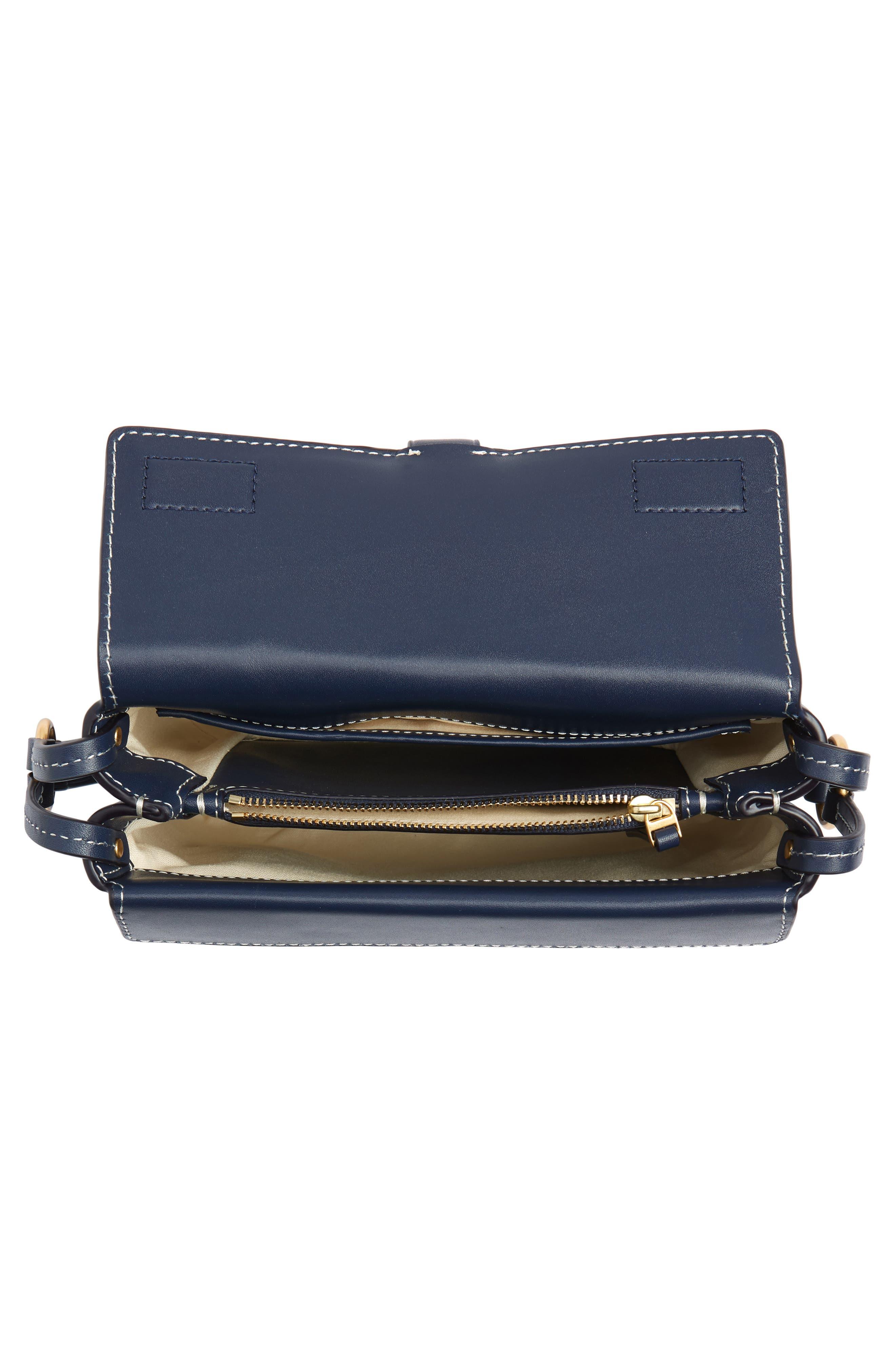Miller Leather Crossbody Bag,                             Alternate thumbnail 4, color,                             ROYAL NAVY