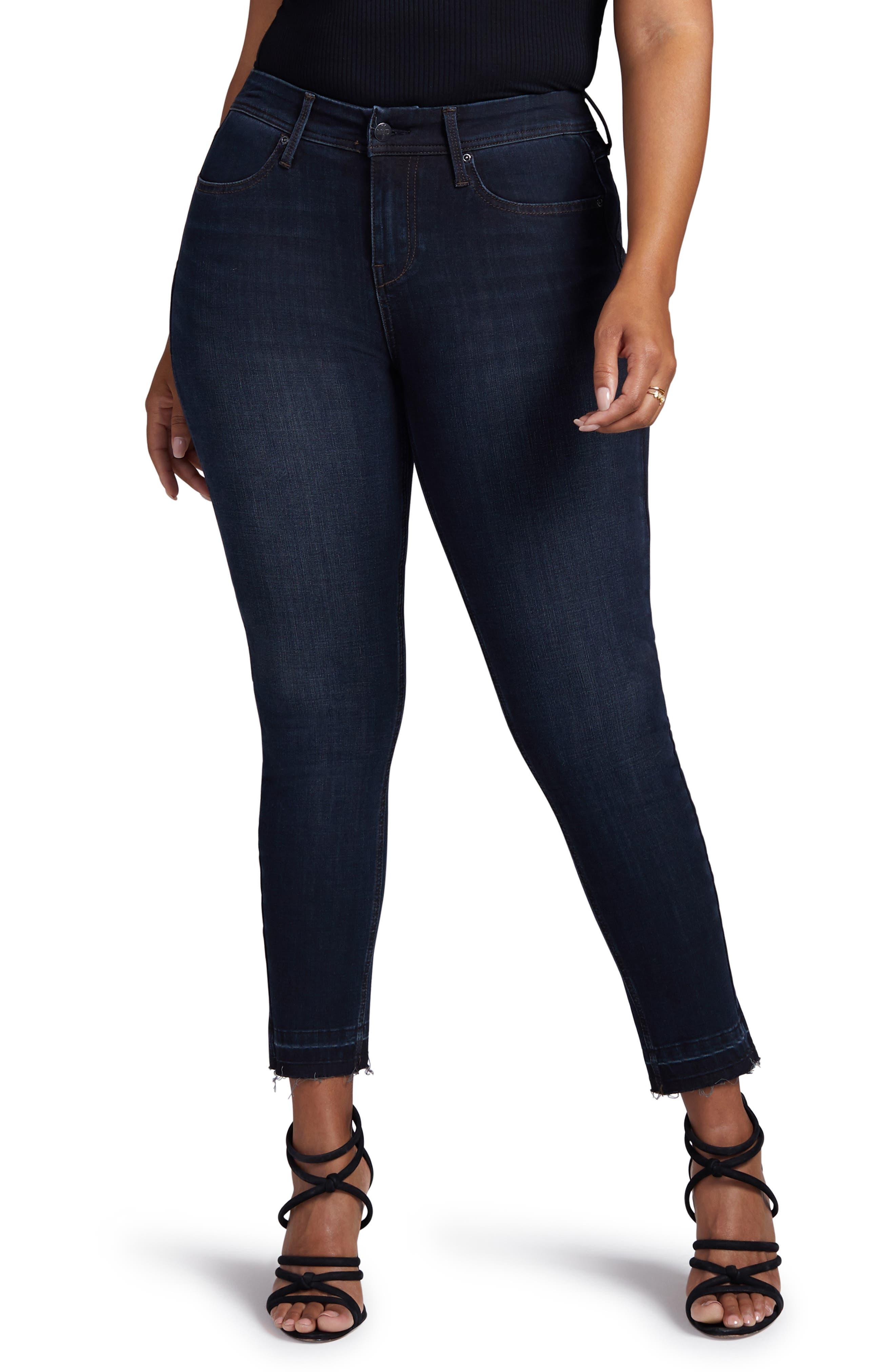 Boost Release Hem Skinny Jeans,                         Main,                         color, WINDSOR