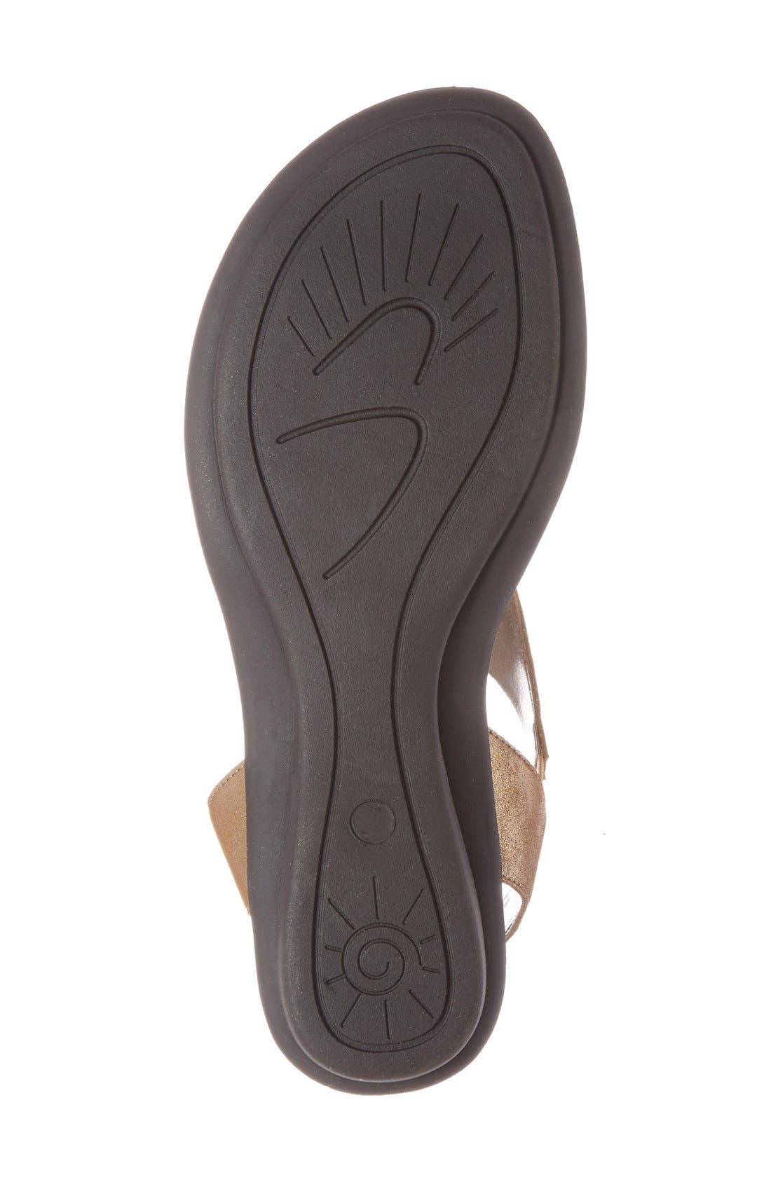'Euclid' Sandal,                             Alternate thumbnail 4, color,                             BROWN LEATHER