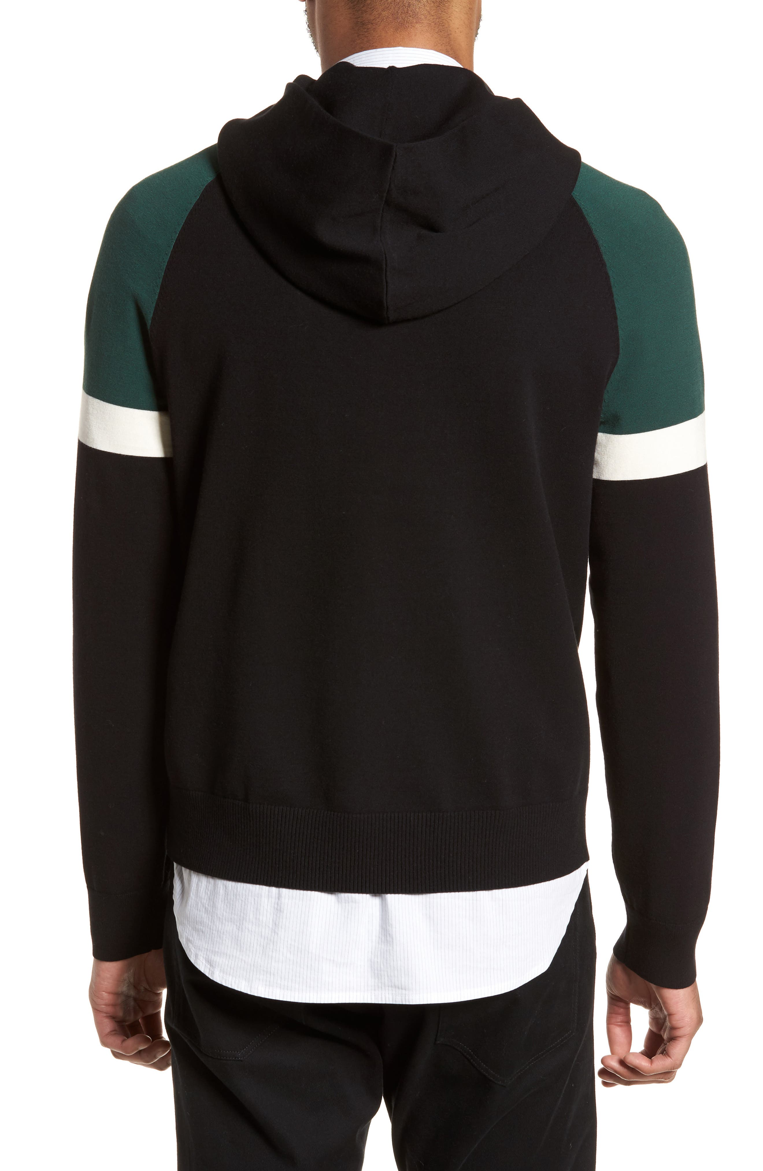 Colorblocked Pullover Hoodie,                             Alternate thumbnail 3, color,