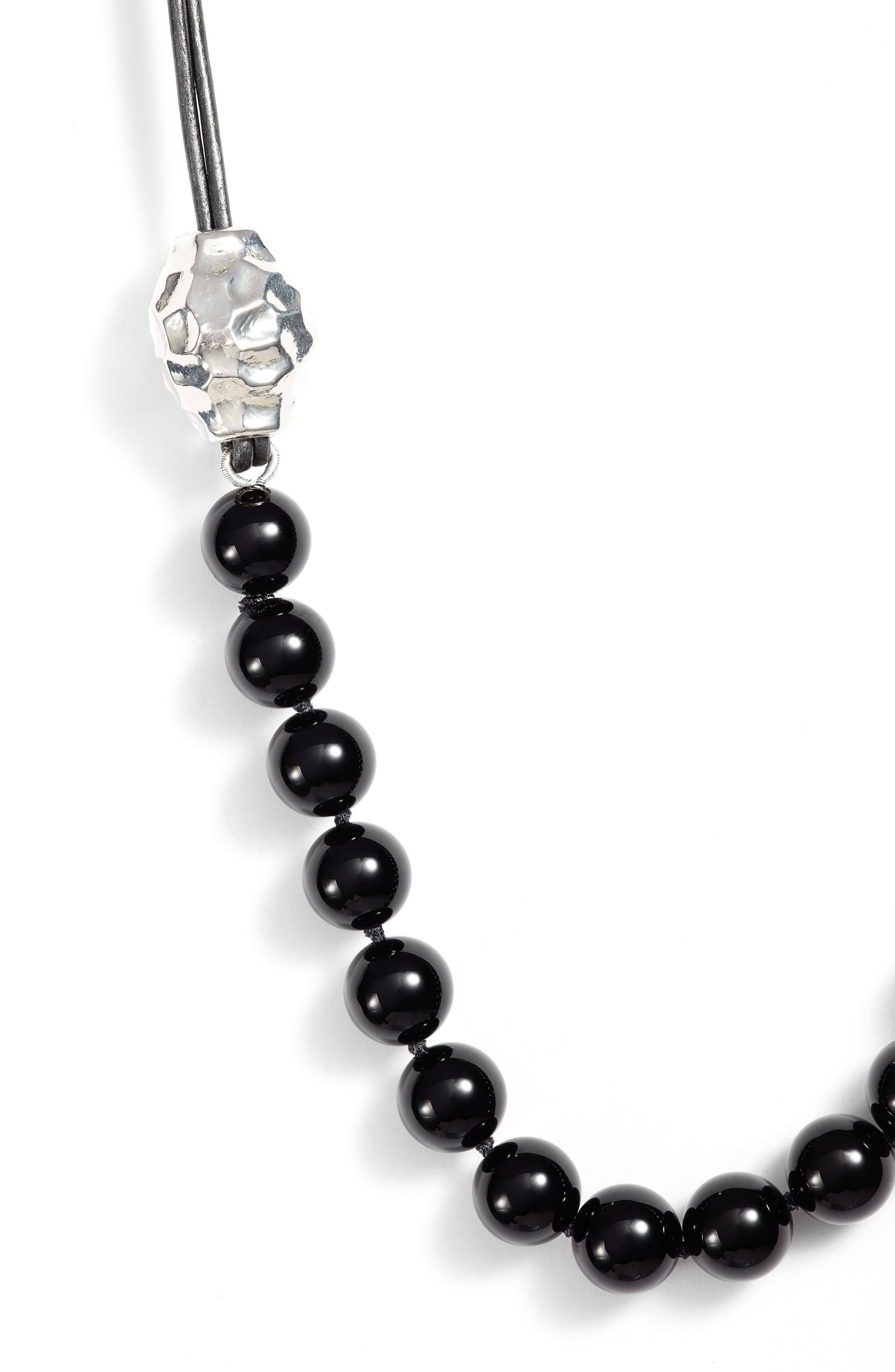 Beaded Leather Necklace,                             Alternate thumbnail 2, color,                             001