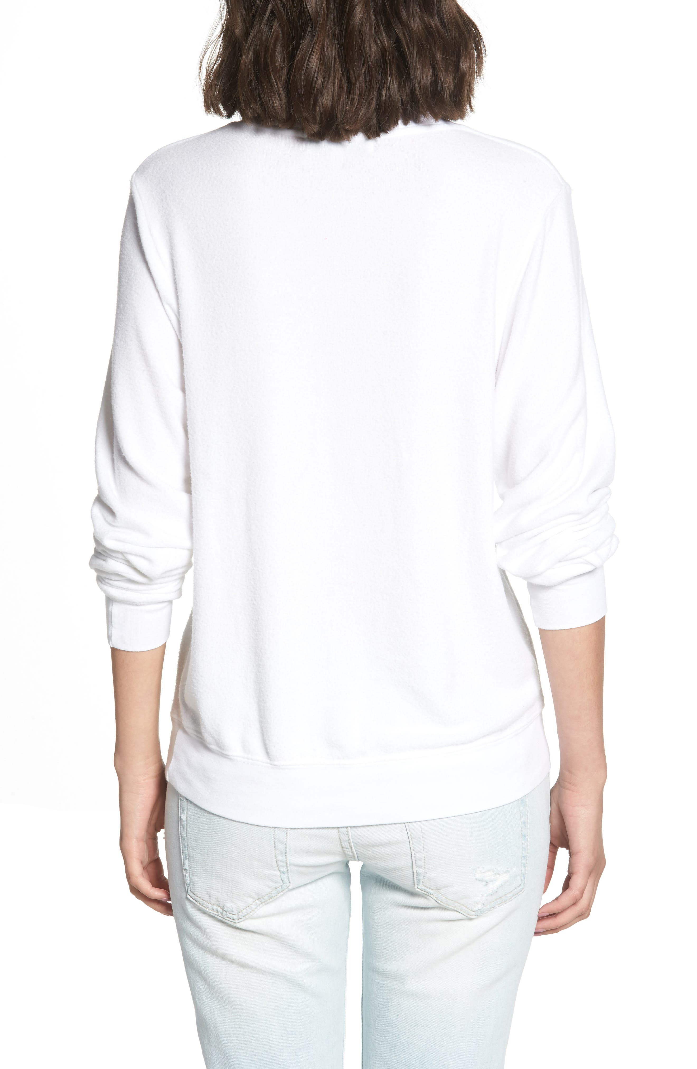 All the Way Baggy Beach Pullover,                             Alternate thumbnail 2, color,                             CLEAN WHITE