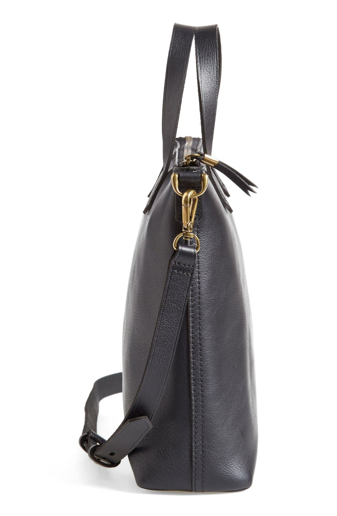 The Transport Leather Crossbody Bag,                             Alternate thumbnail 4, color,                             001