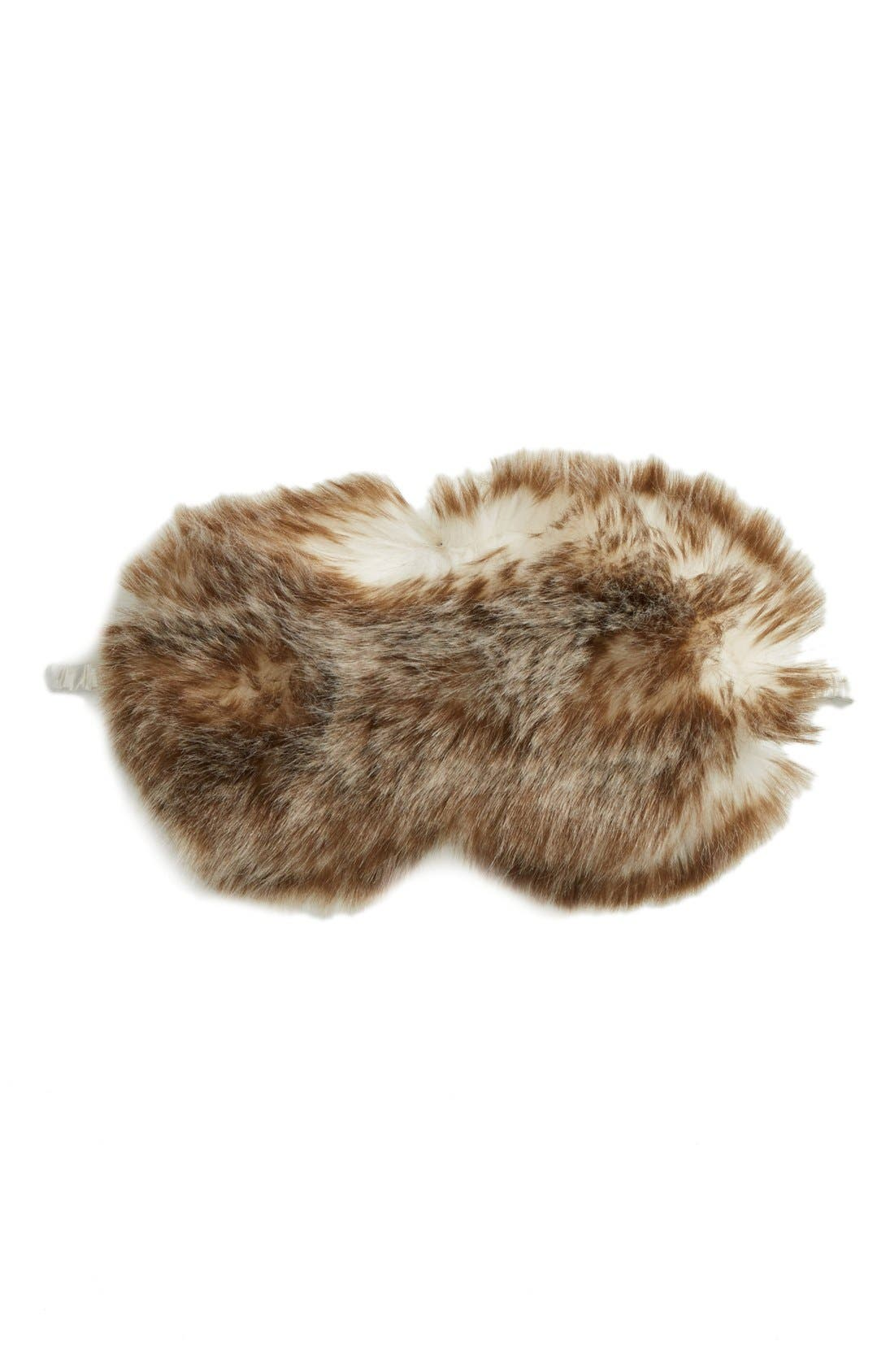 Nordstrom Faux Fur Eye Mask,                             Main thumbnail 5, color,