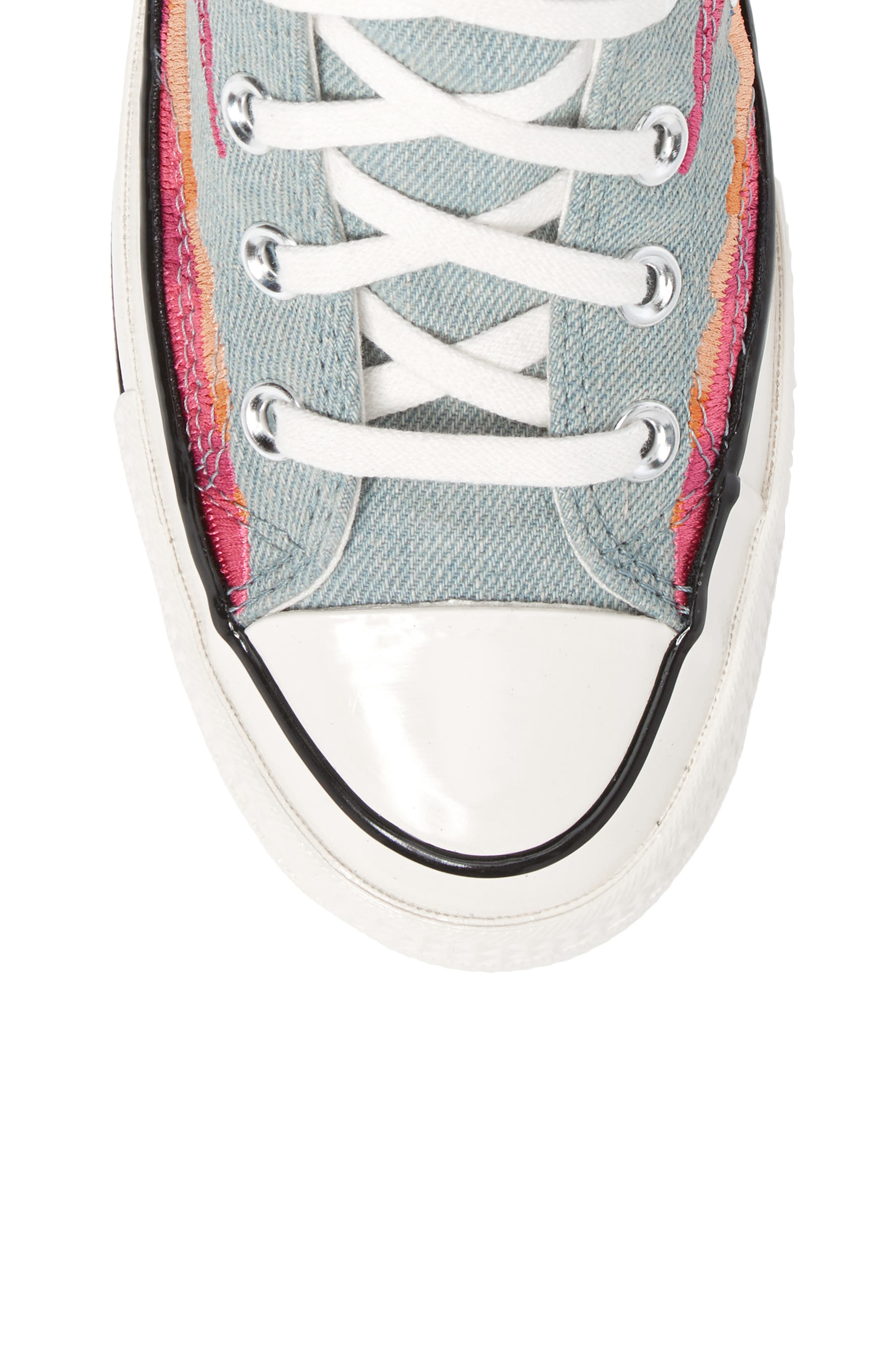 x Mara Hoffman All Star<sup>®</sup> Embroidered High Top Sneaker,                             Alternate thumbnail 10, color,