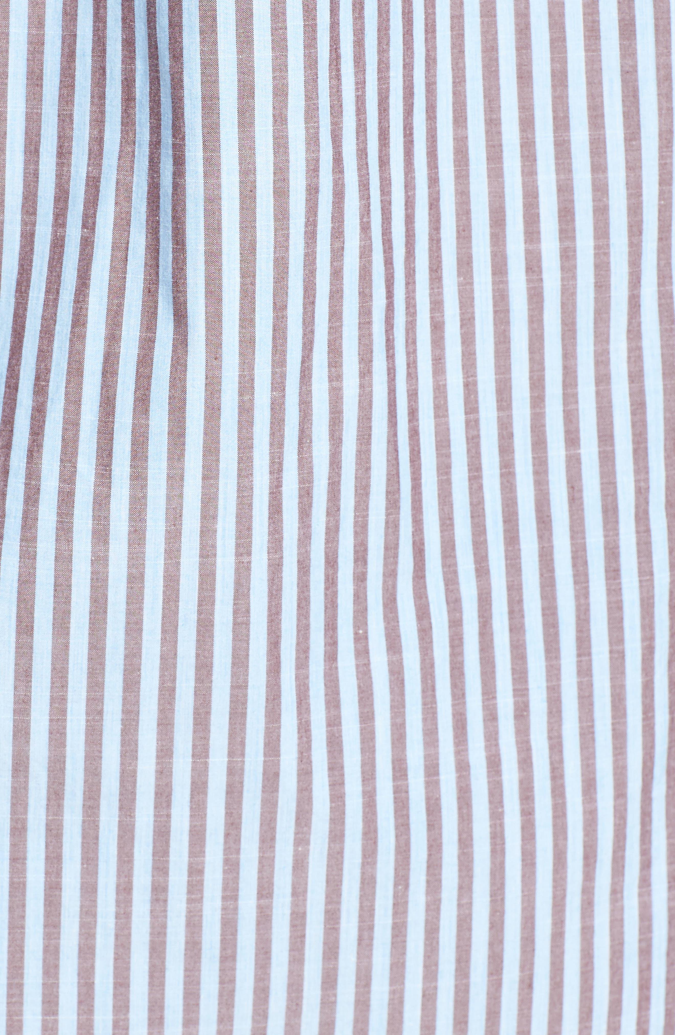 Fitzroy Stripe Sport Shirt,                             Alternate thumbnail 5, color,                             456