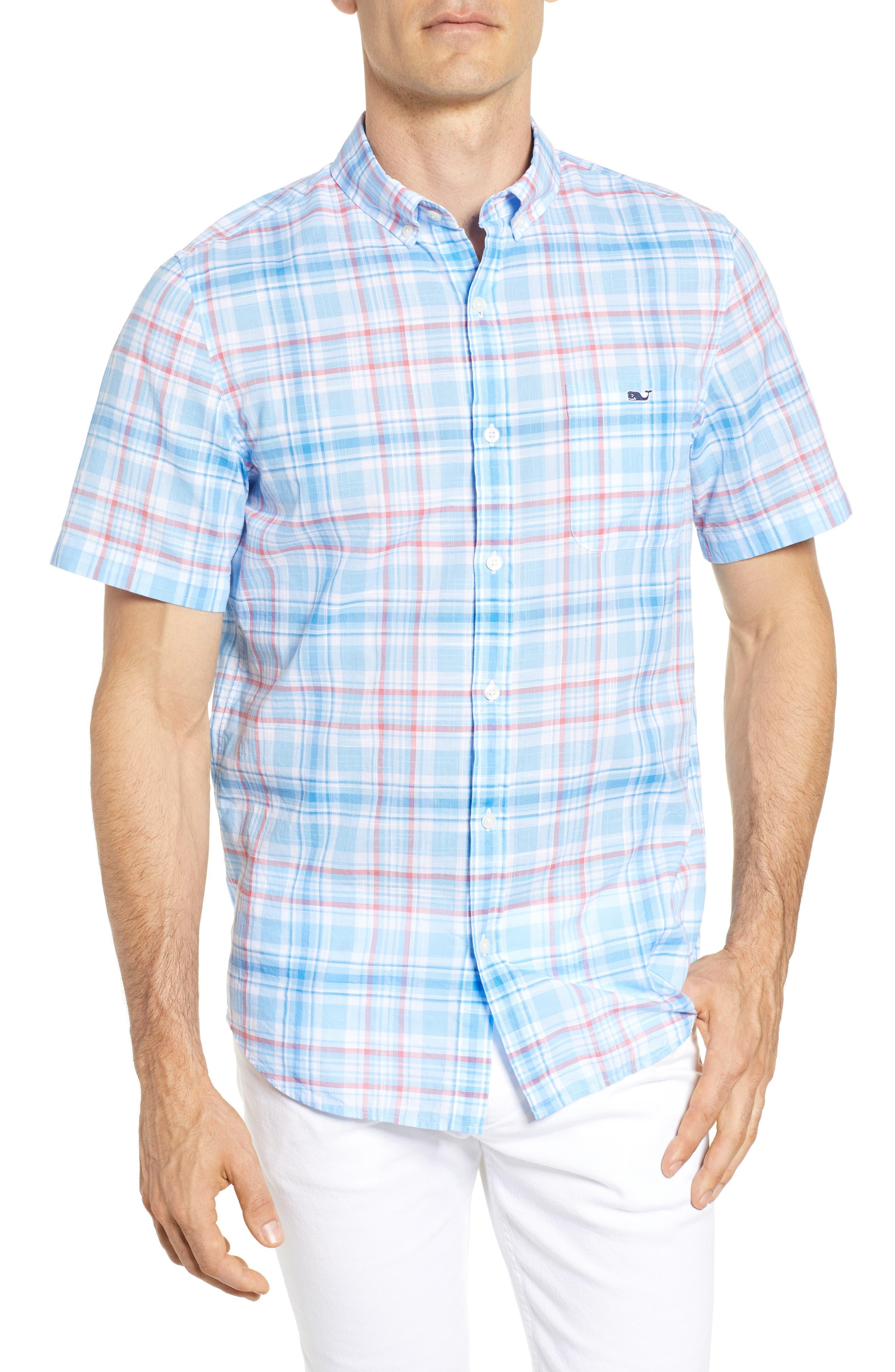 Fire Road Tucker Slim Fit Plaid Sport Shirt,                         Main,                         color, 484