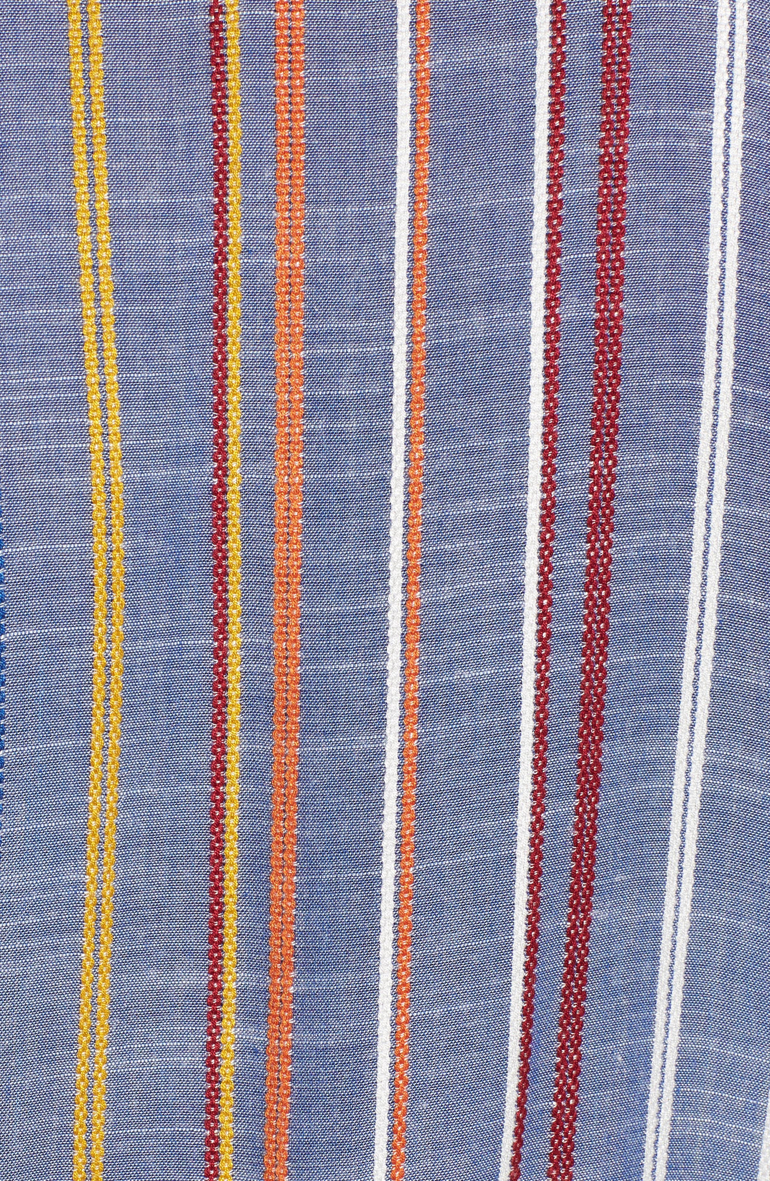 Stripe Tie Front Shirt,                             Alternate thumbnail 6, color,                             410