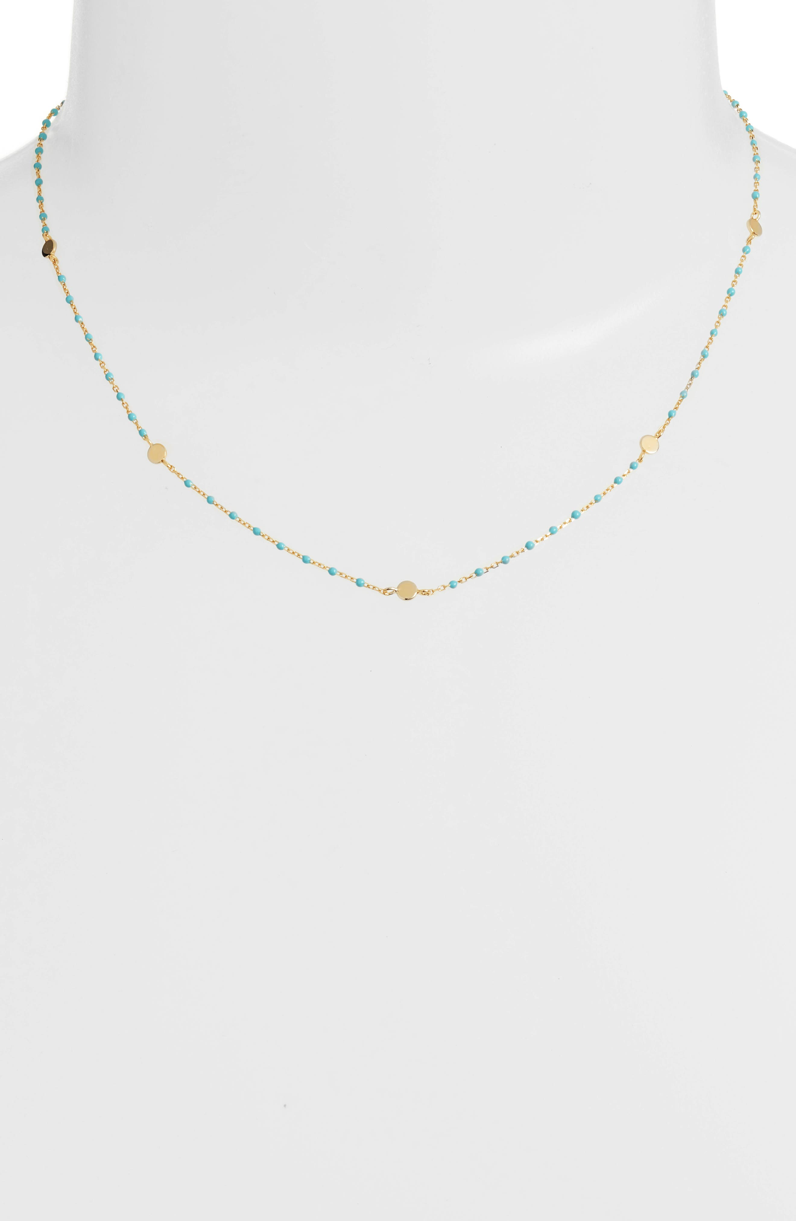 Beaded Station Necklace,                             Main thumbnail 4, color,