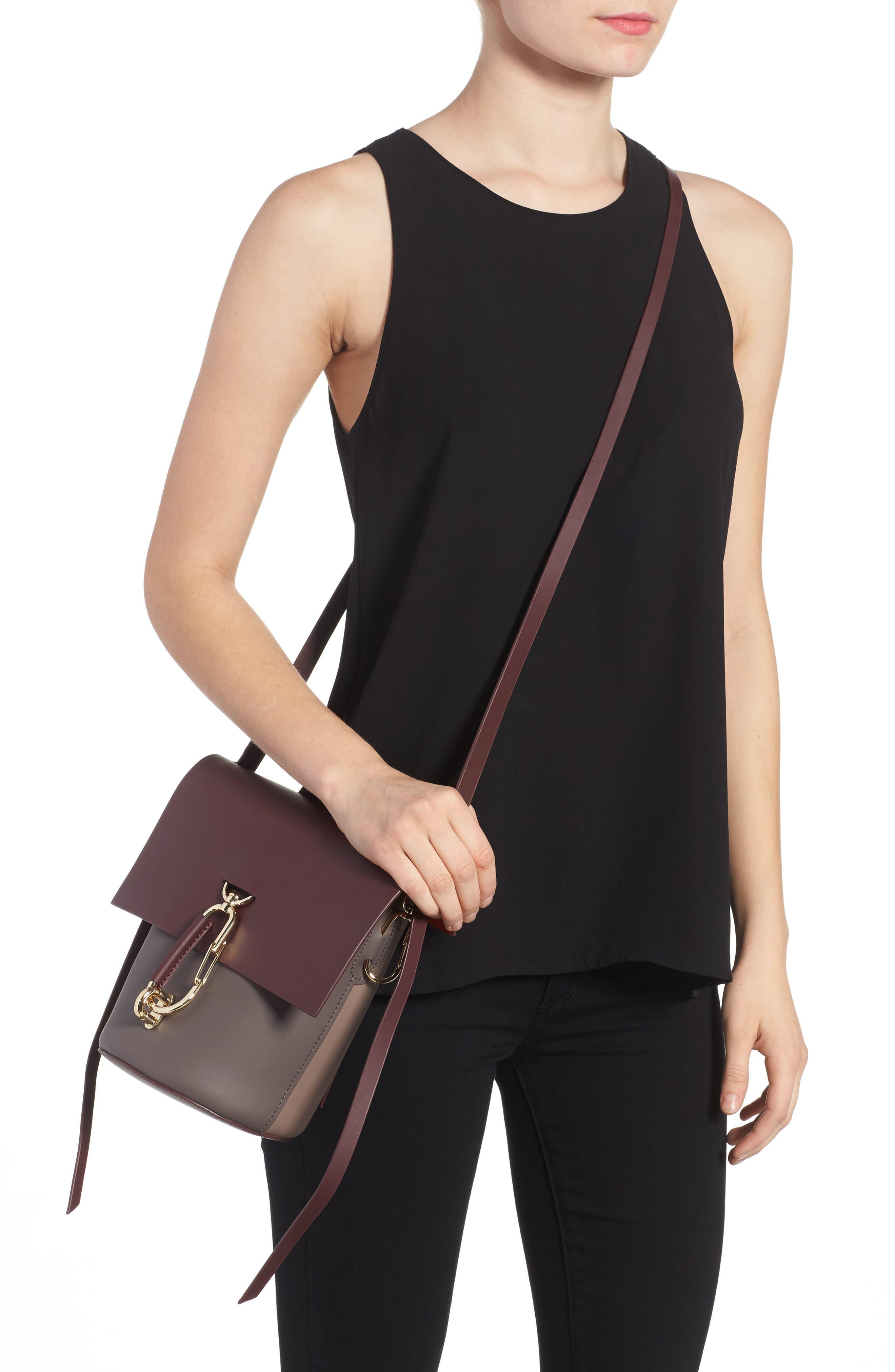 Belay Colorblock Leather Crossbody Bag,                             Alternate thumbnail 4, color,