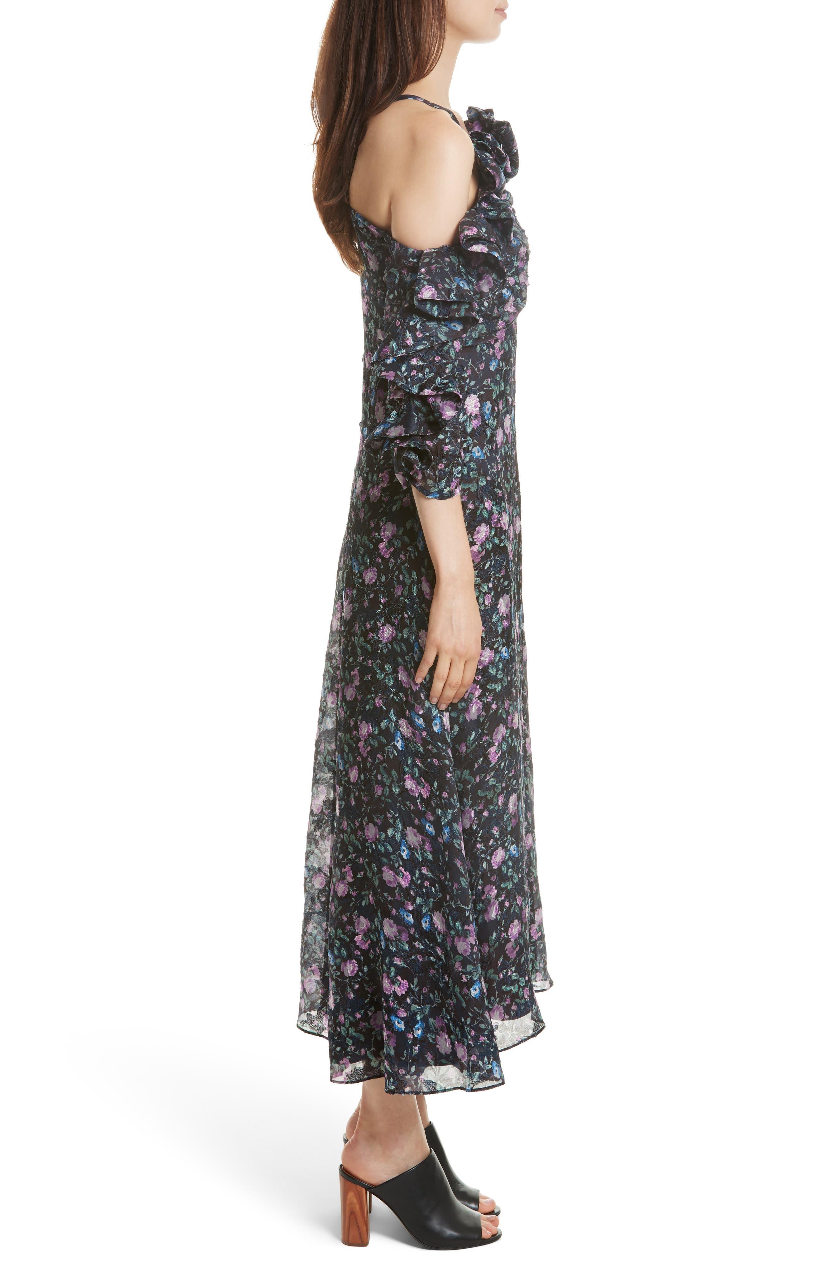 Ruby Organza Midi Dress,                             Alternate thumbnail 3, color,                             497