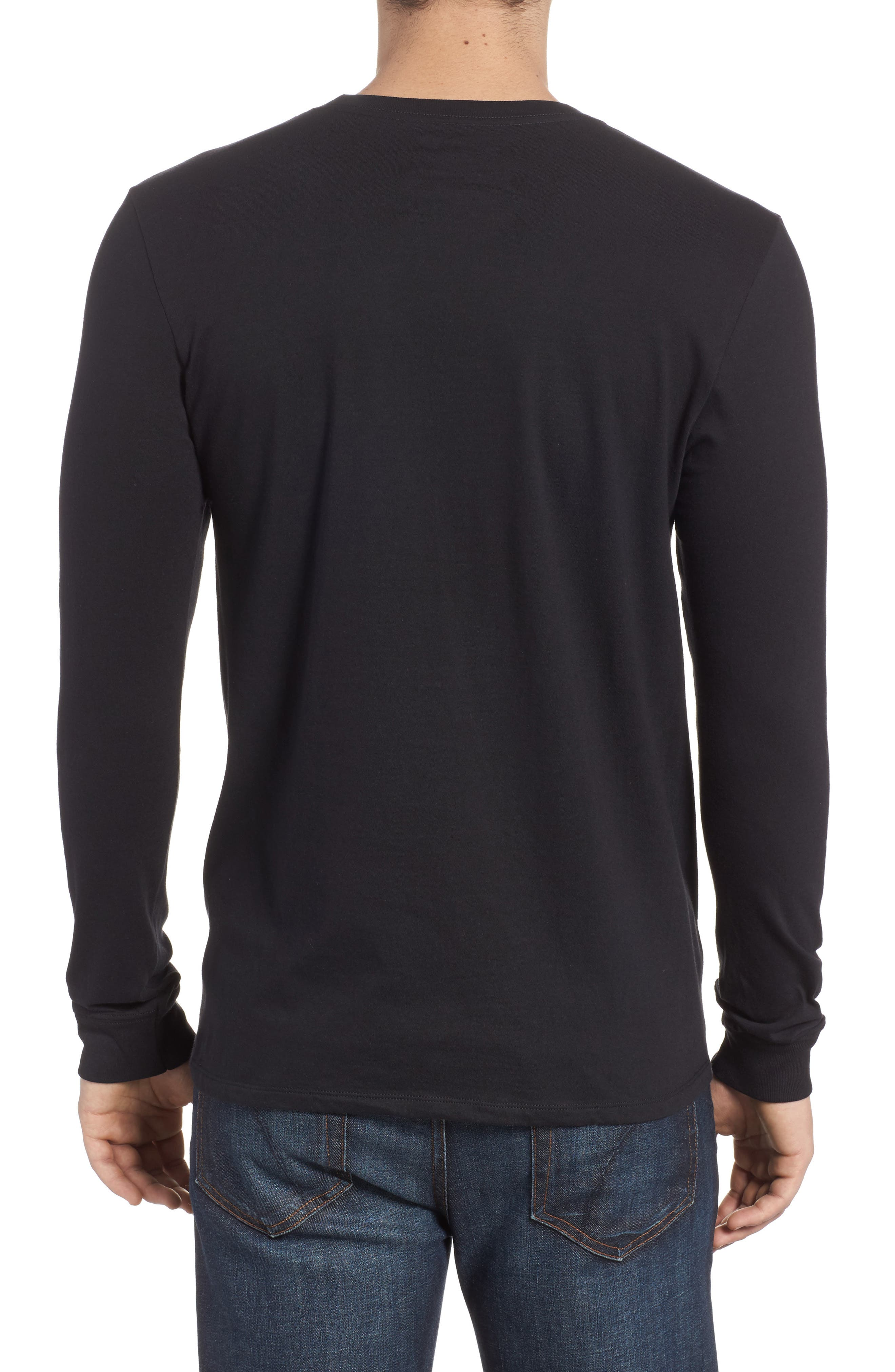Port Logo Graphic Long Sleeve T-Shirt,                             Alternate thumbnail 2, color,                             010