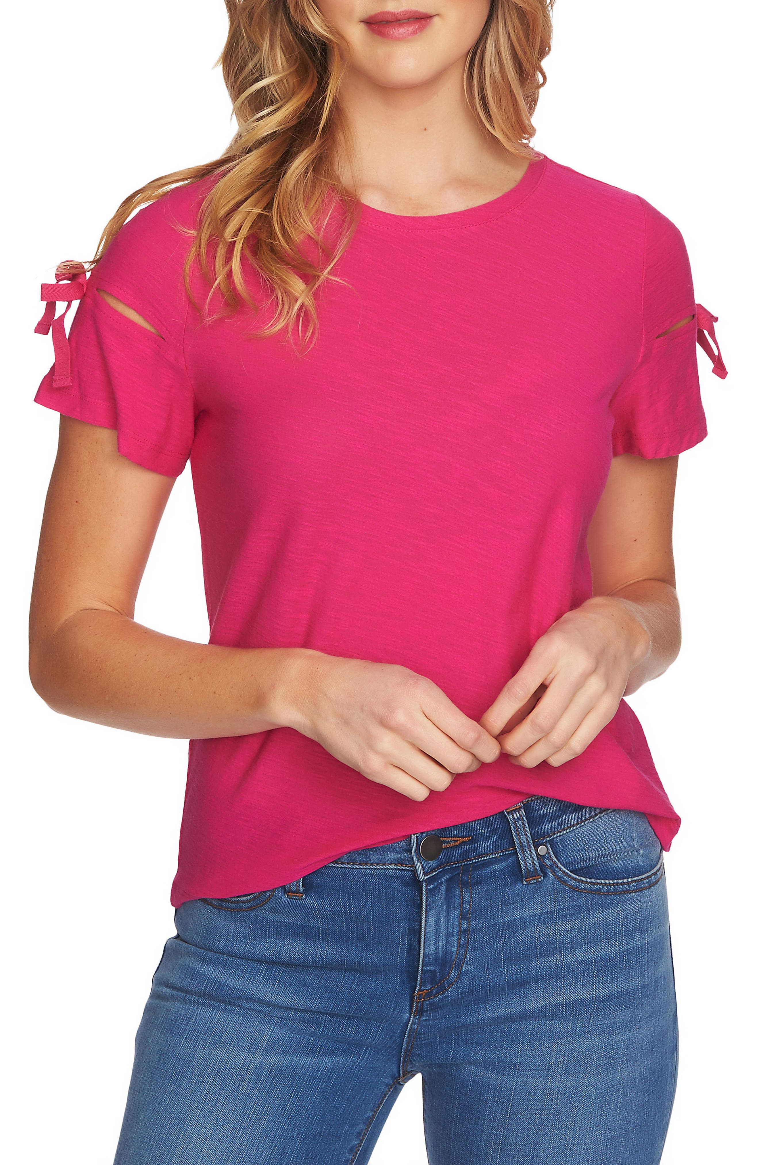 Bow Sleeve Knit Top,                             Main thumbnail 4, color,