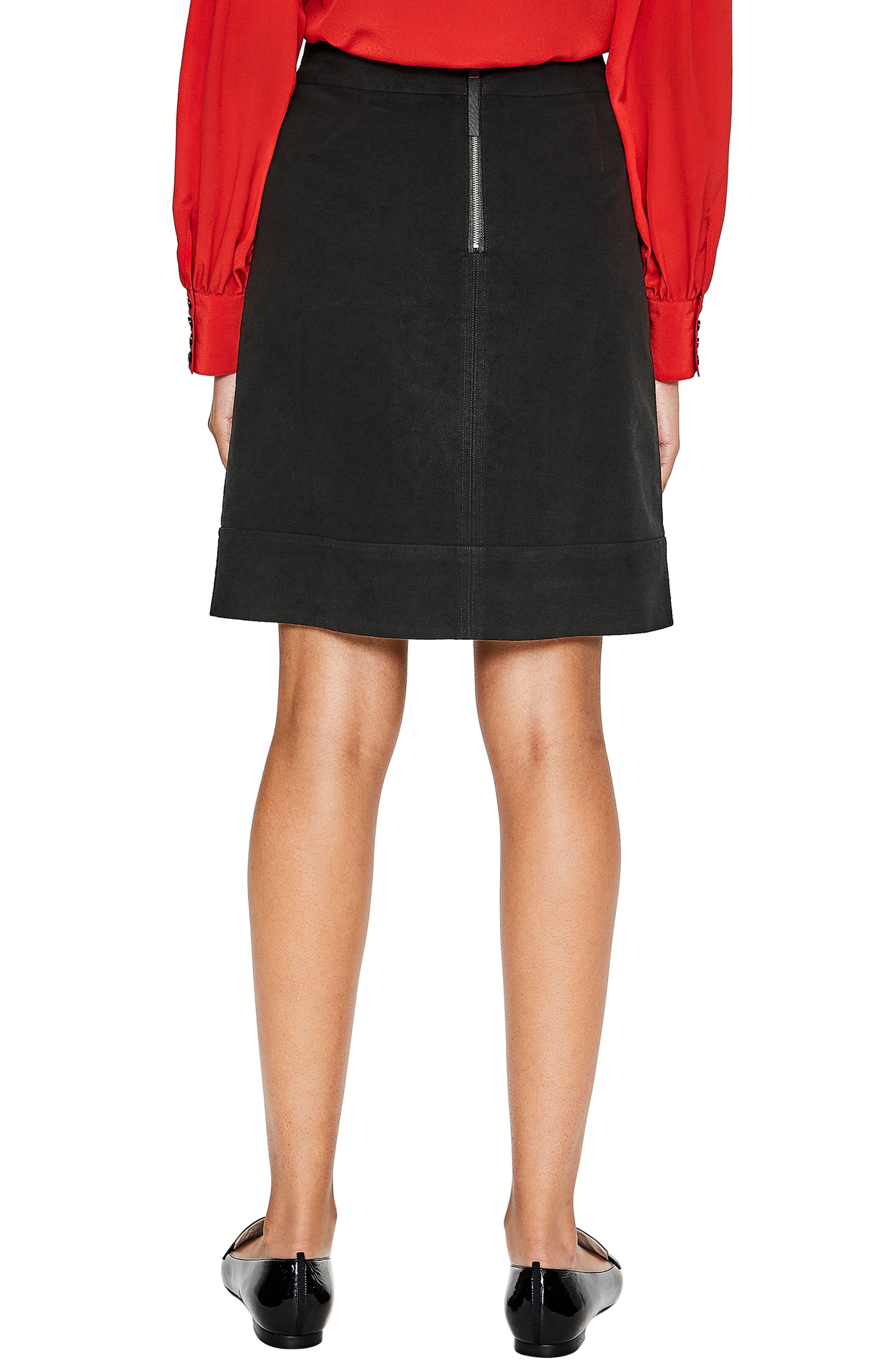 BODEN,                             Dorchester Patch Pocket Stretch Cotton Miniskirt,                             Alternate thumbnail 2, color,                             001