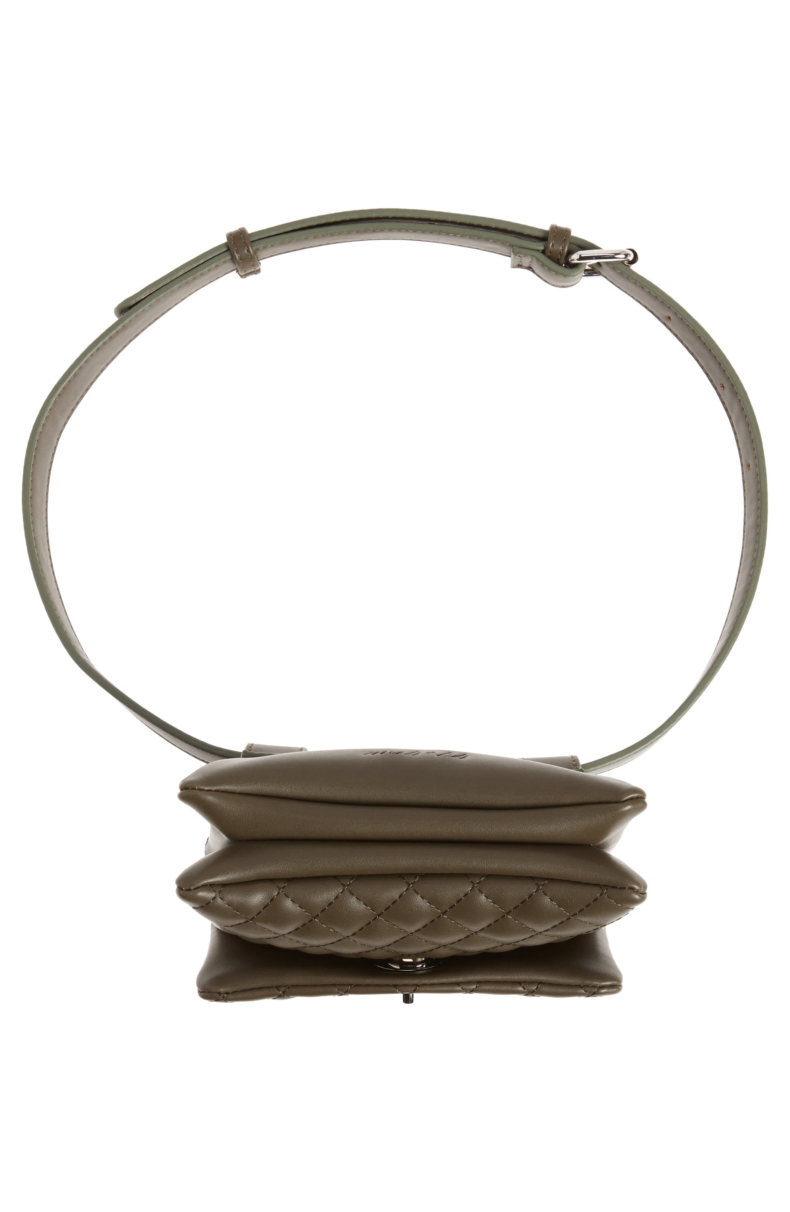 Mali + Lili Quilted Vegan Leather Convertible Belt Bag,                             Alternate thumbnail 8, color,                             OLIVE