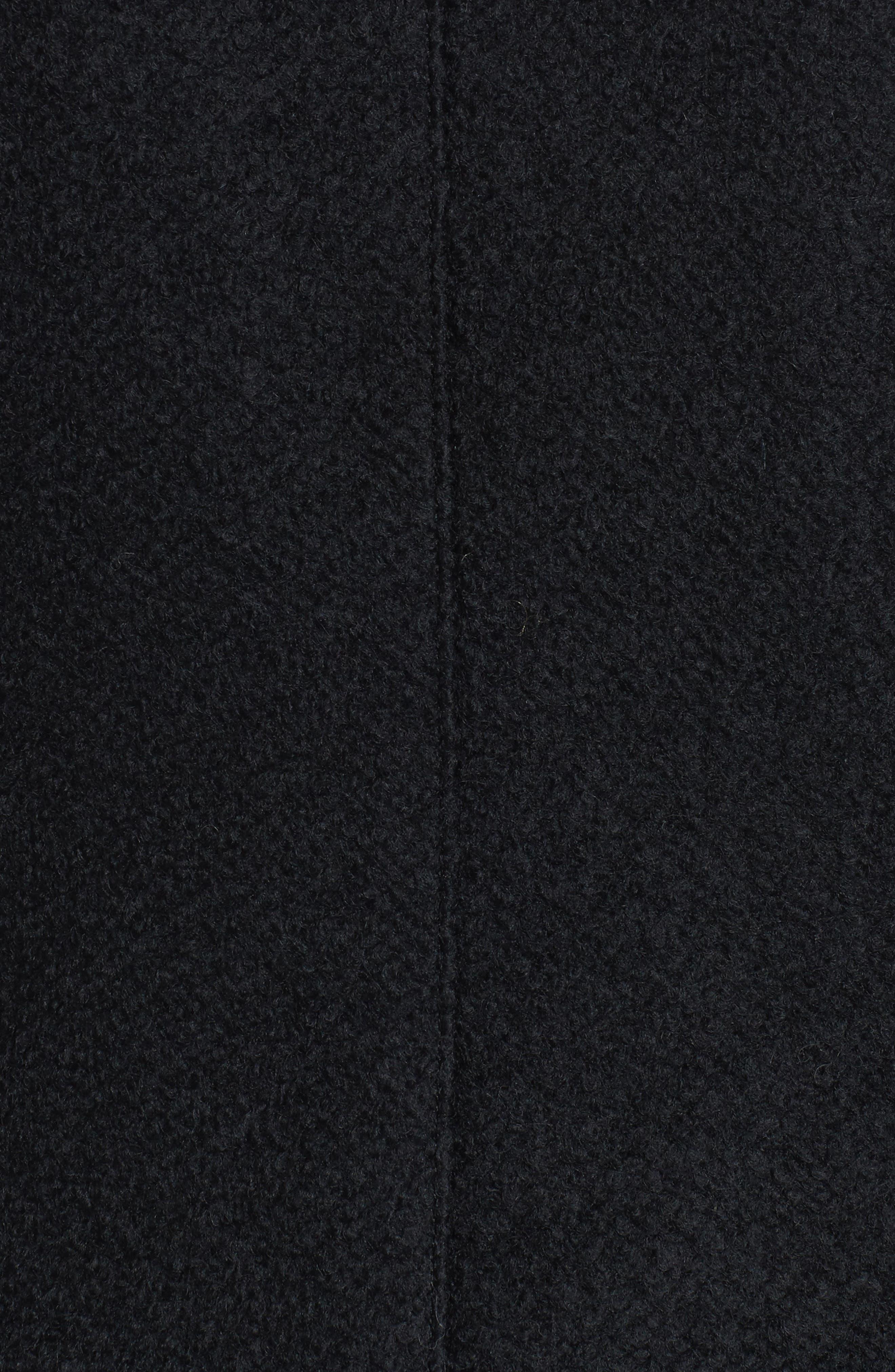 Bouclé Military Coat,                             Alternate thumbnail 5, color,                             001