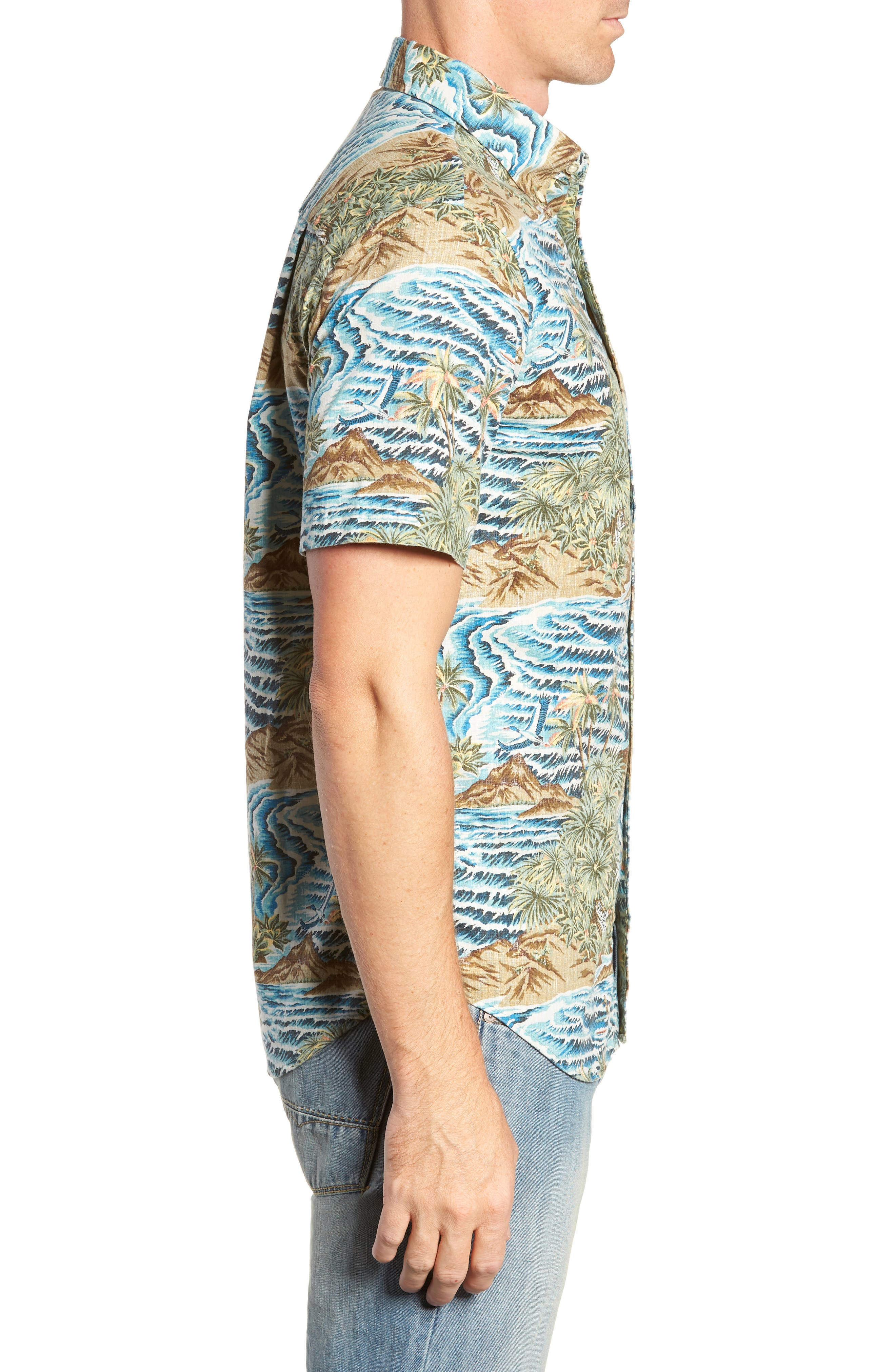 Sumatra Slide Tailored Fit Sport Shirt,                             Alternate thumbnail 4, color,                             430