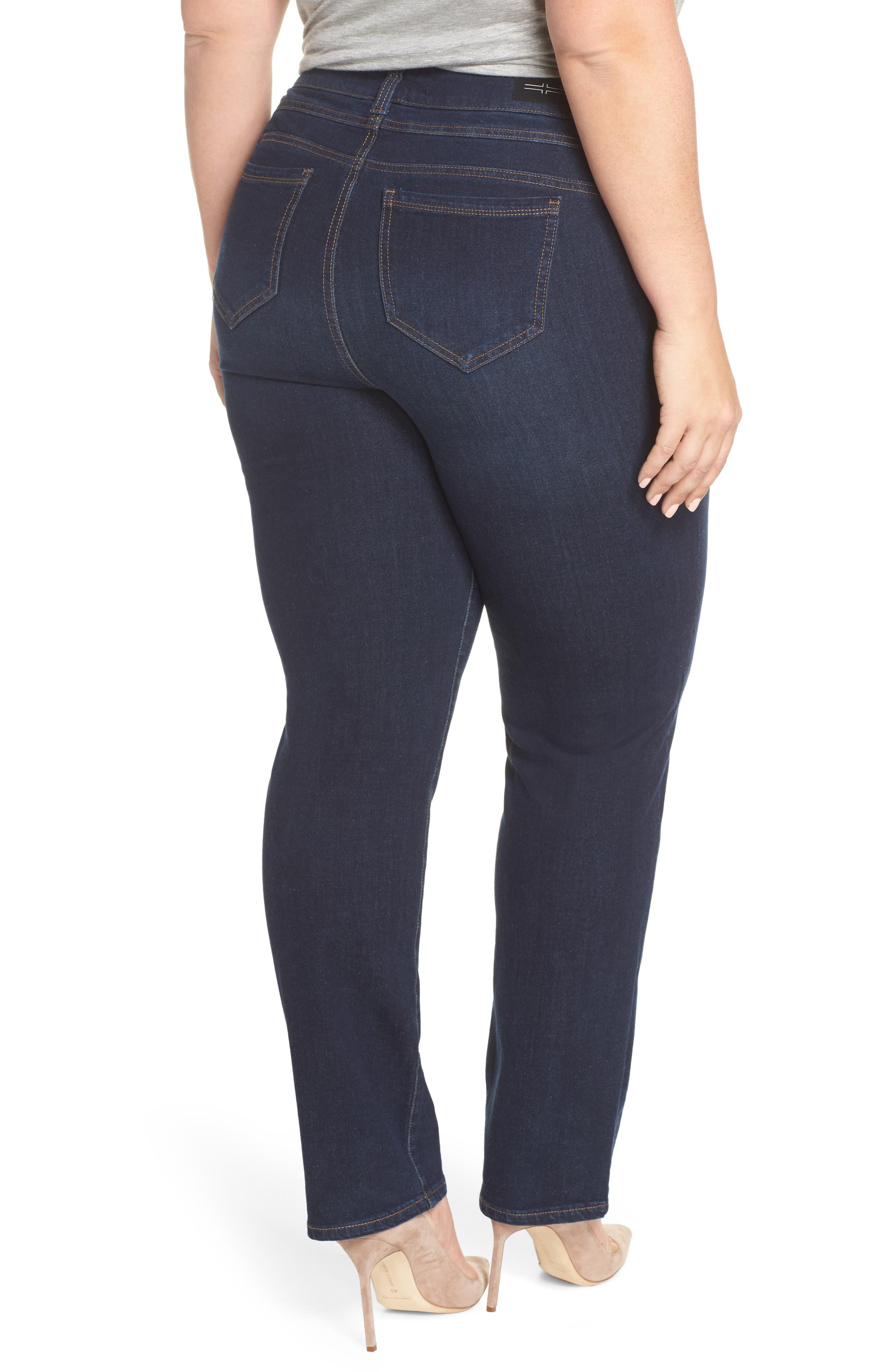 Remy - Hugger Straight Leg Jeans,                             Alternate thumbnail 2, color,                             CORVUS DARK