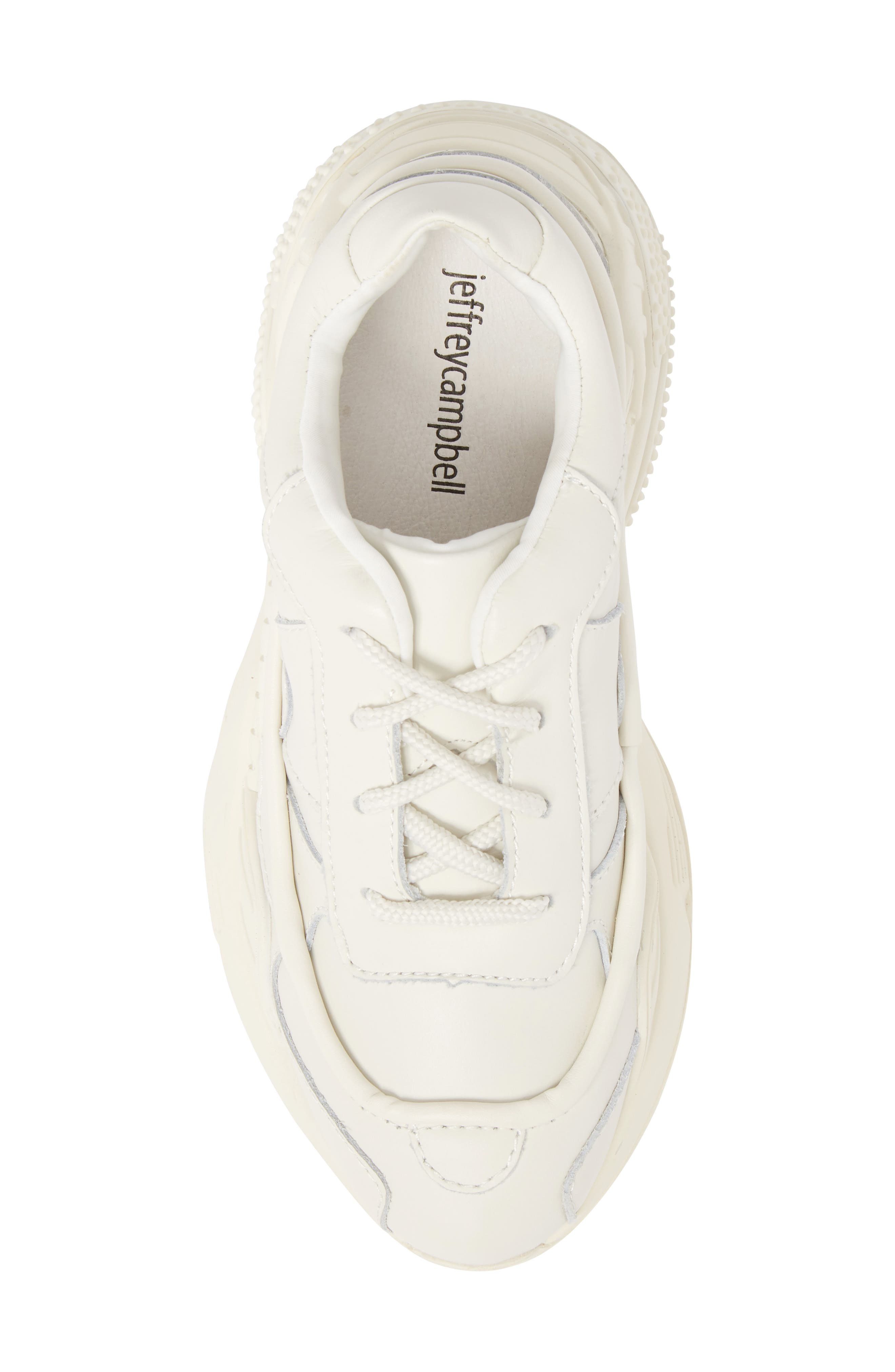 HMDI Platform Sneaker,                             Alternate thumbnail 5, color,                             WHITE LEATHER