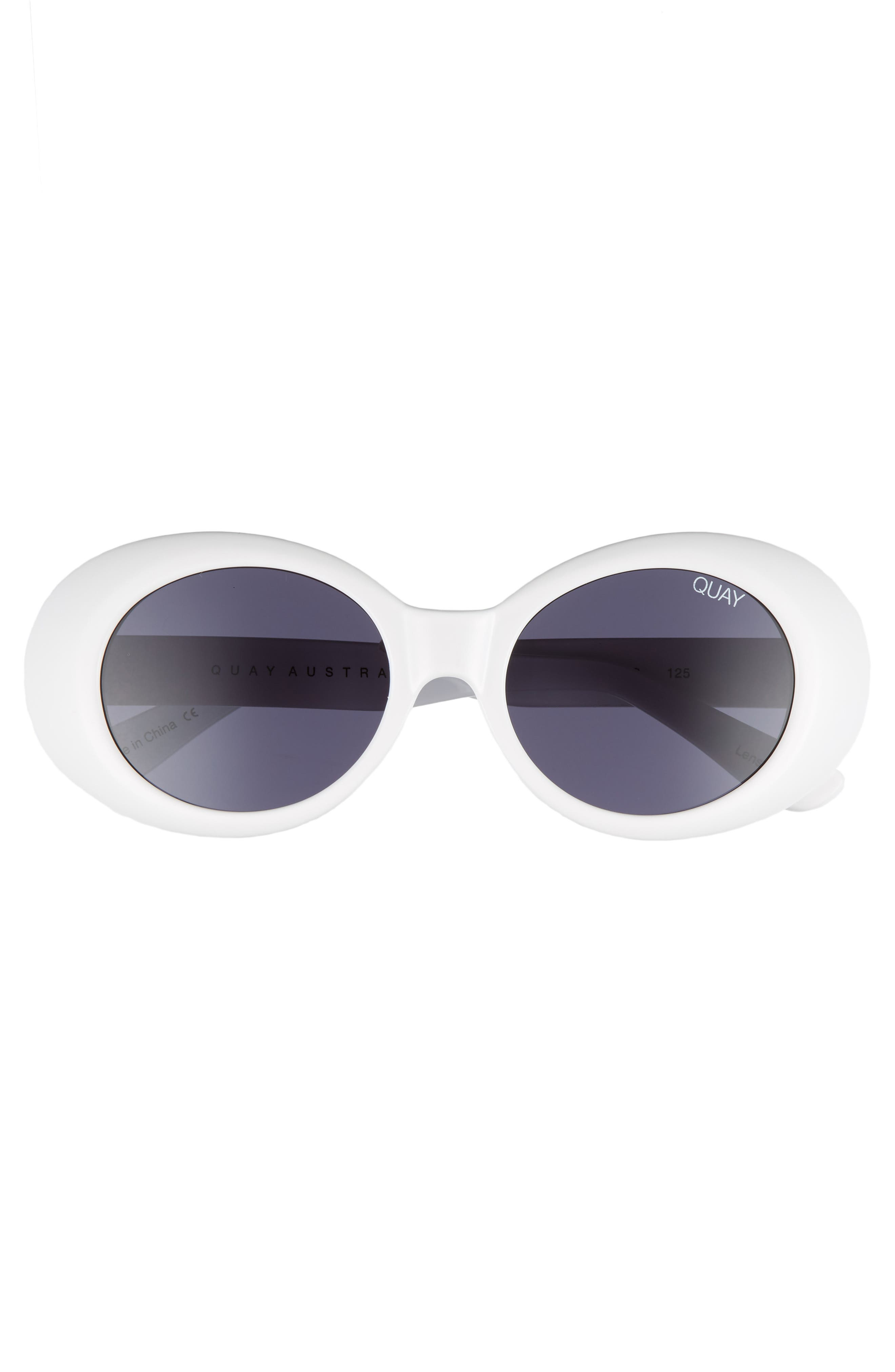 Frivolous 50mm Oval Sunglasses,                             Alternate thumbnail 3, color,                             100