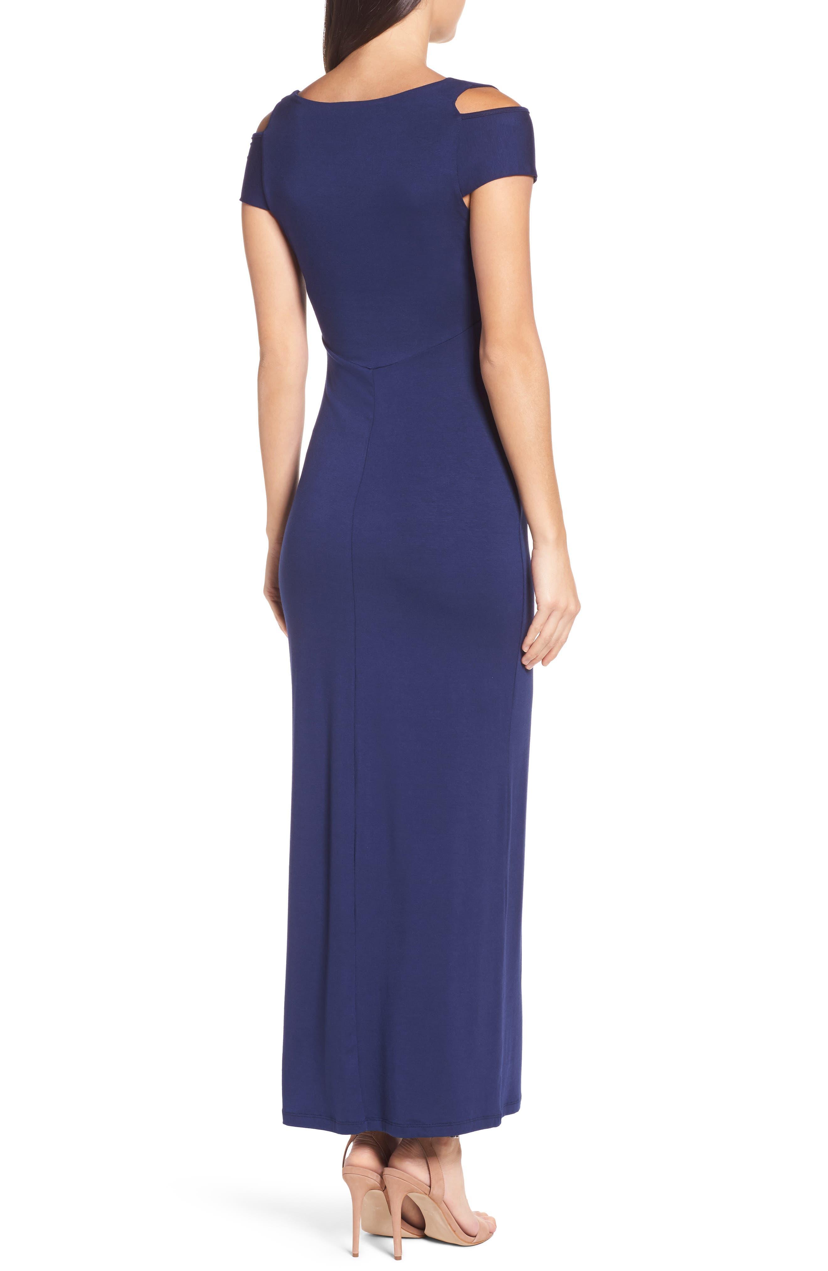 Cold Shoulder Maxi Dress,                             Alternate thumbnail 2, color,