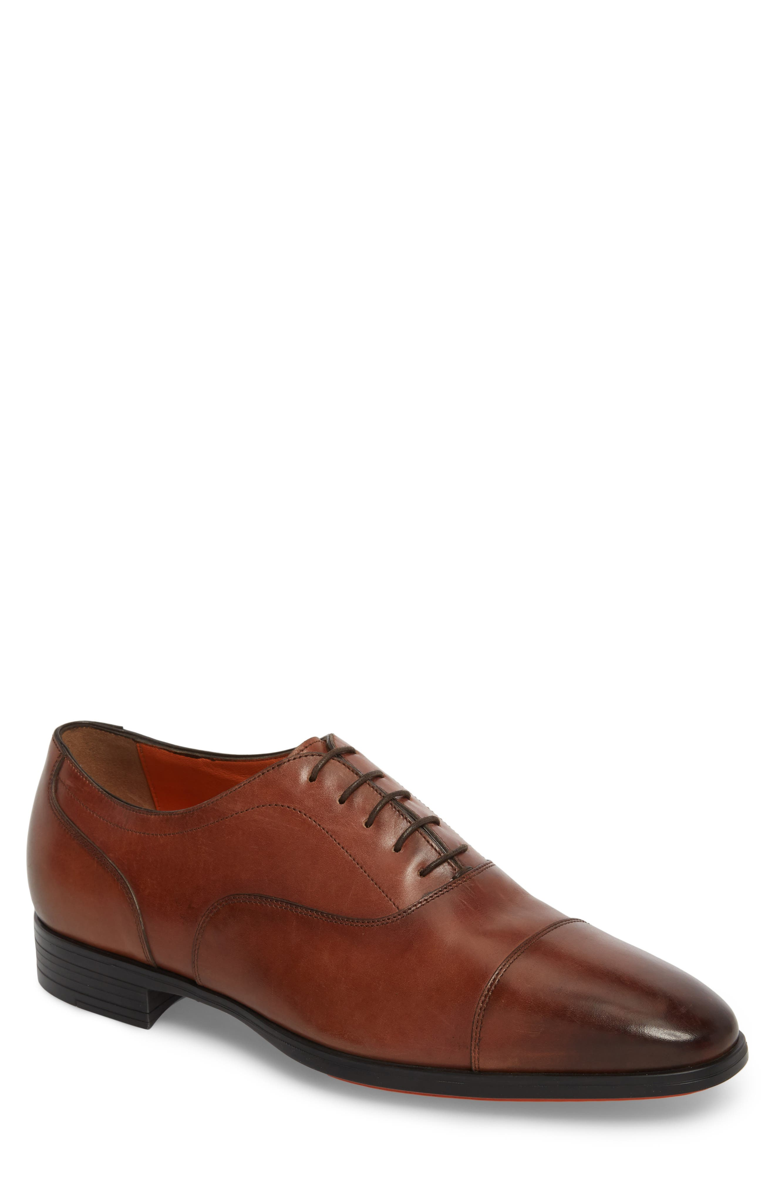 Eamon Cap Toe Oxford,                         Main,                         color, BROWN