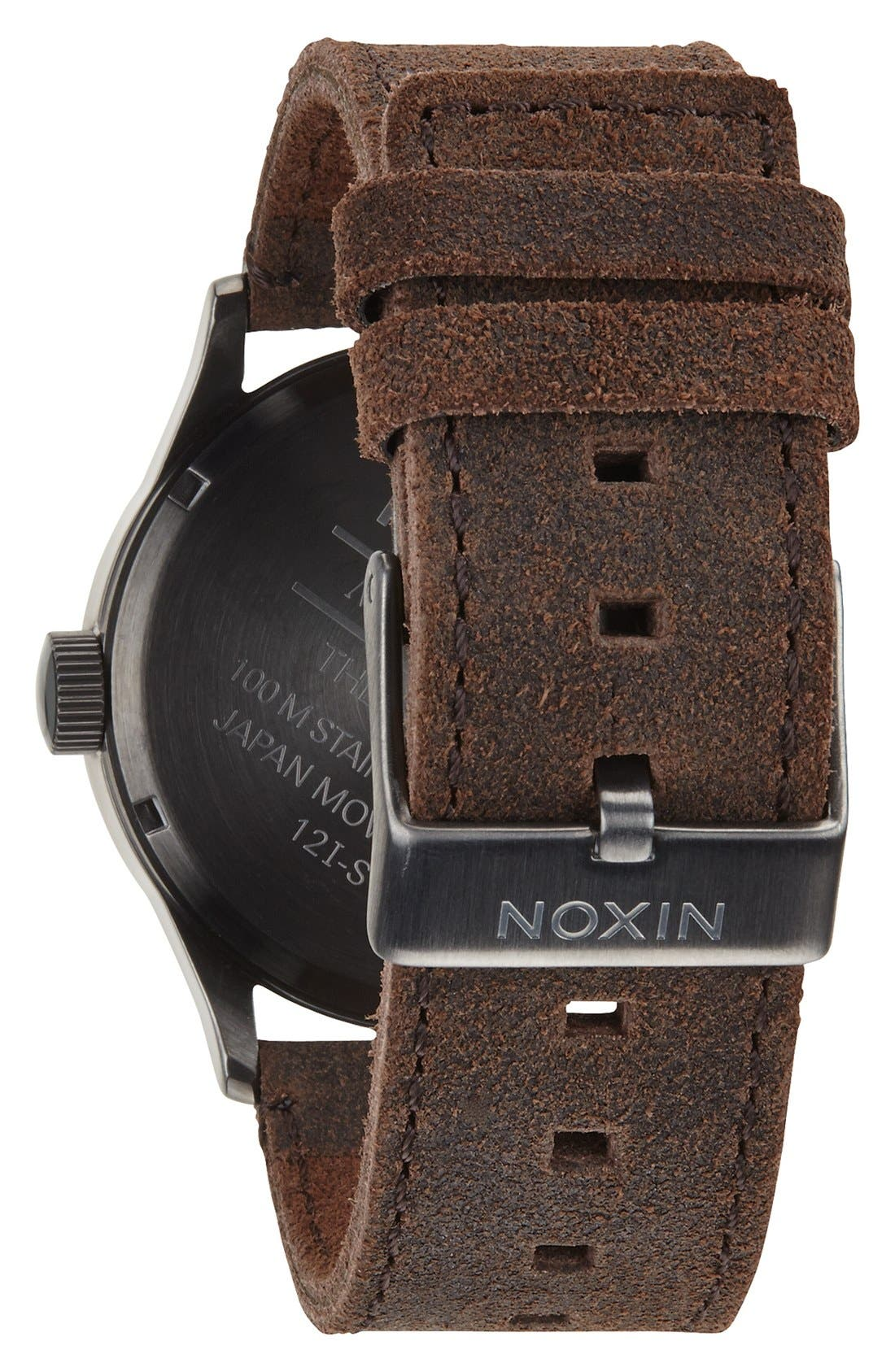 The Sentry Leather Strap Watch, 42mm,                             Alternate thumbnail 114, color,