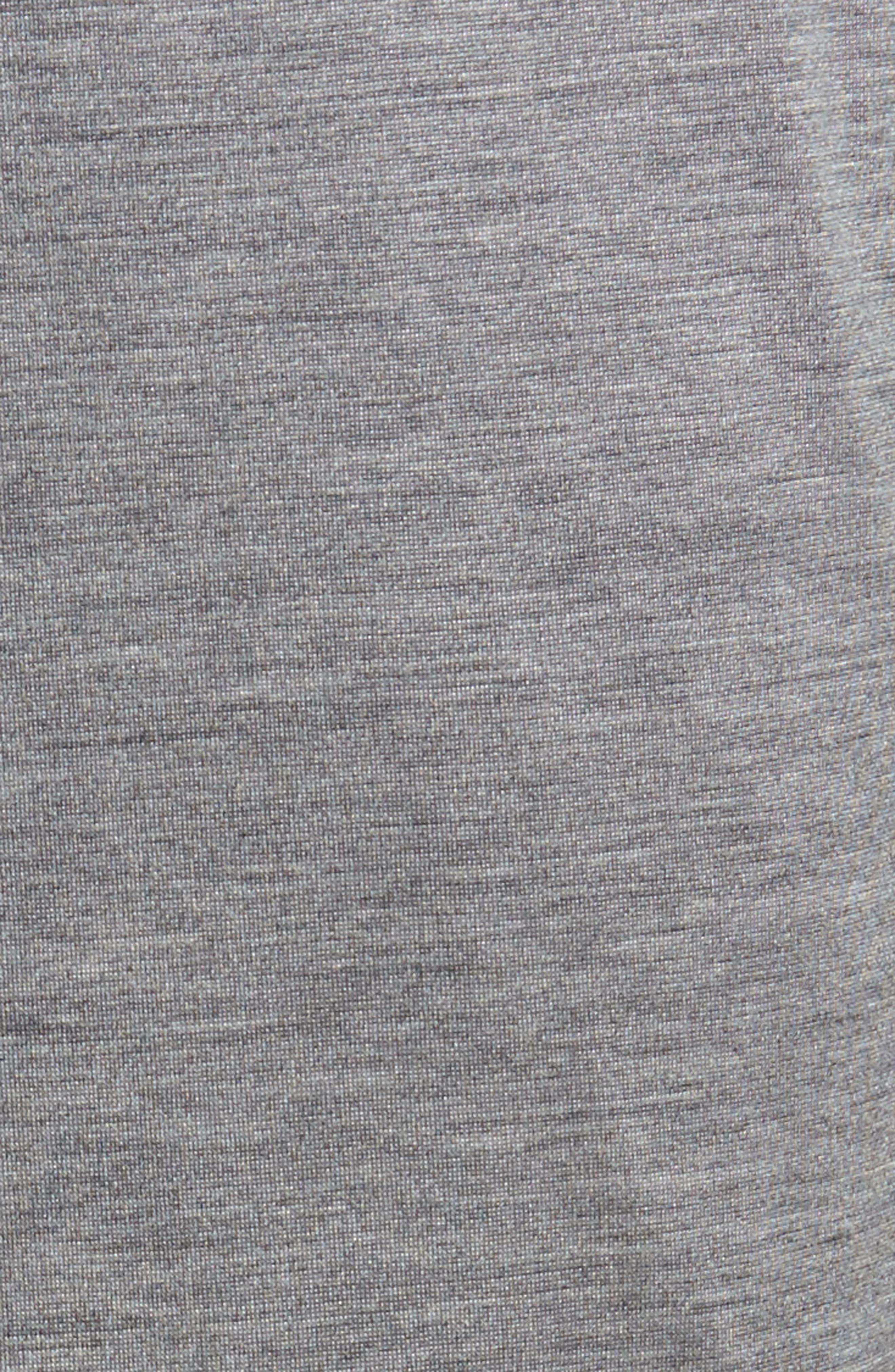 Silk & Cotton Lounge Pants,                             Alternate thumbnail 5, color,                             CHARCOAL HEATHER