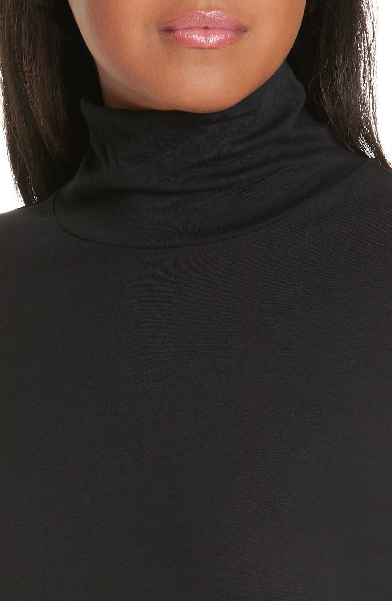 Pima Cotton Turtleneck,                             Alternate thumbnail 4, color,                             001