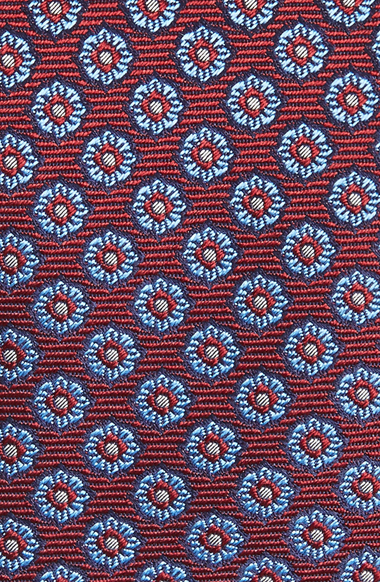 Floral Medallion Silk Tie,                             Alternate thumbnail 6, color,