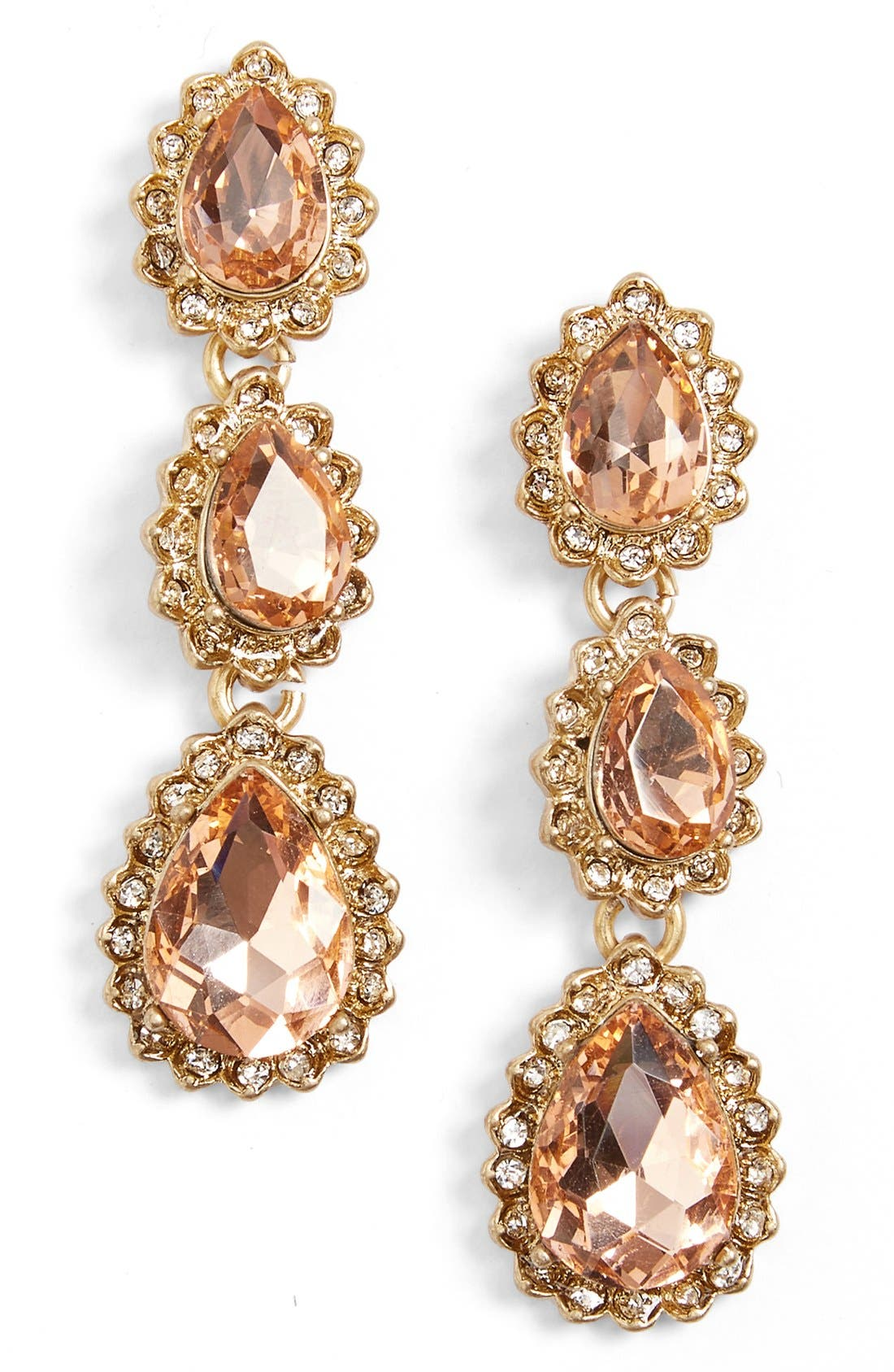 Sunrise Crystal Linear Drop Earrings,                             Main thumbnail 1, color,                             650