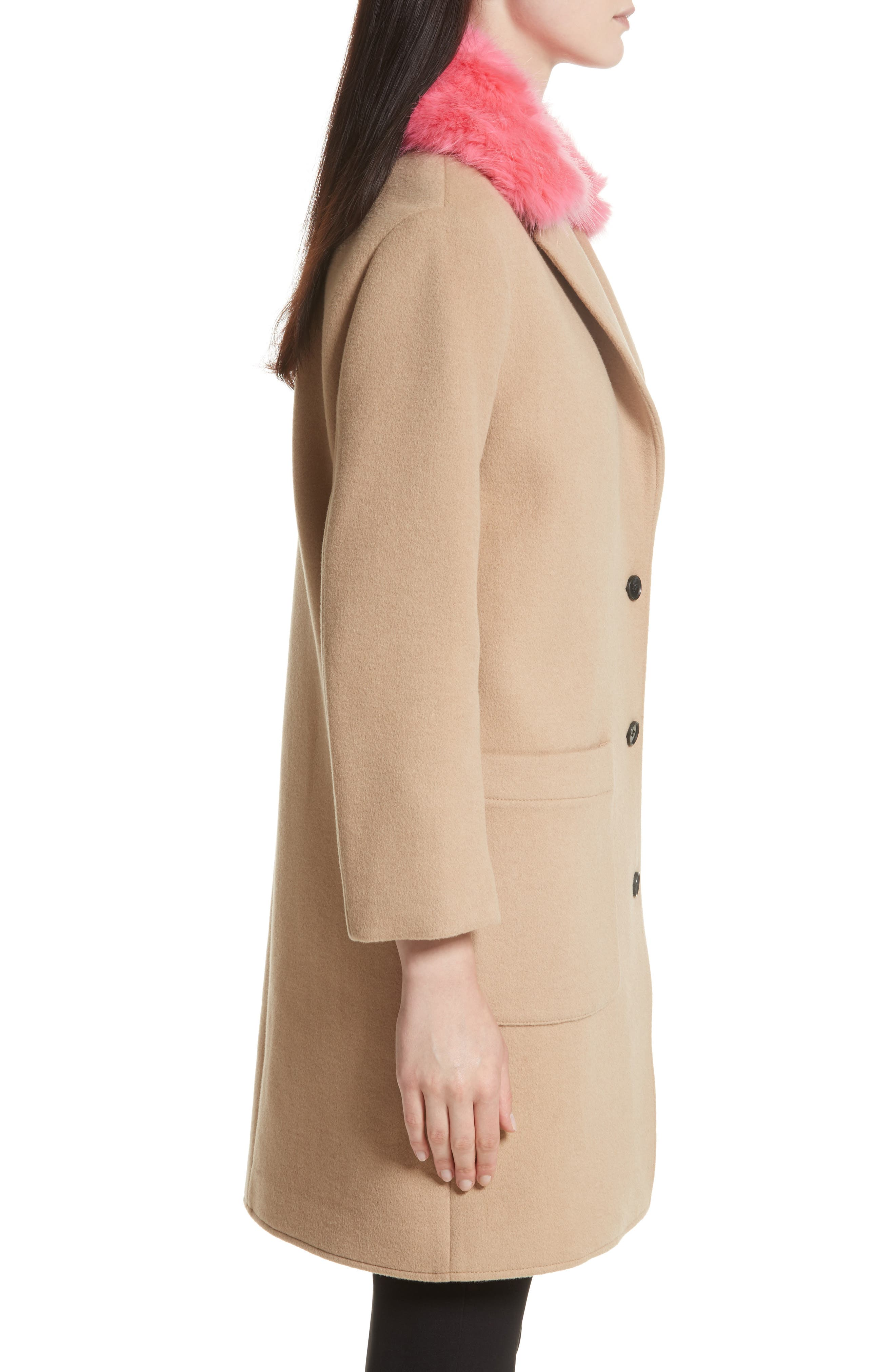 Allegra Wool Blend Coat,                             Alternate thumbnail 3, color,                             232
