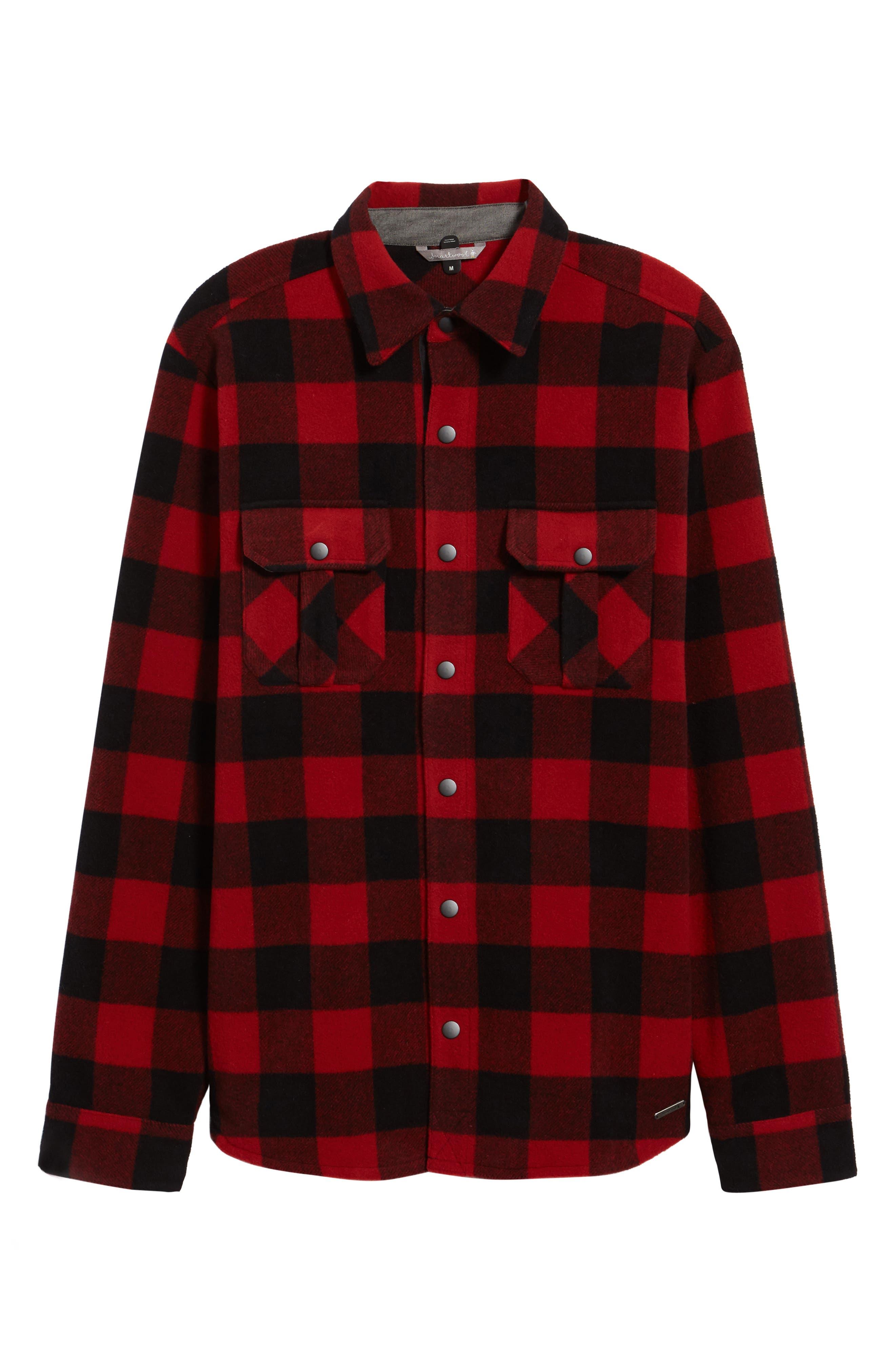 Anchor Line Flannel Shirt Jacket,                             Alternate thumbnail 10, color,
