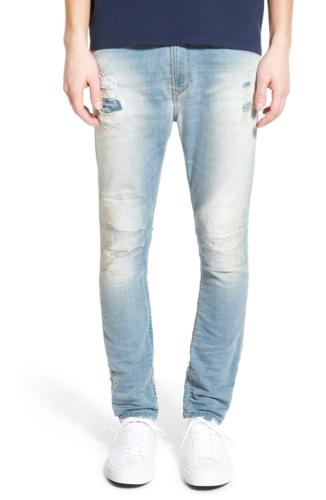 'Spender' Skinny Fit Jeans,                             Main thumbnail 1, color,                             400