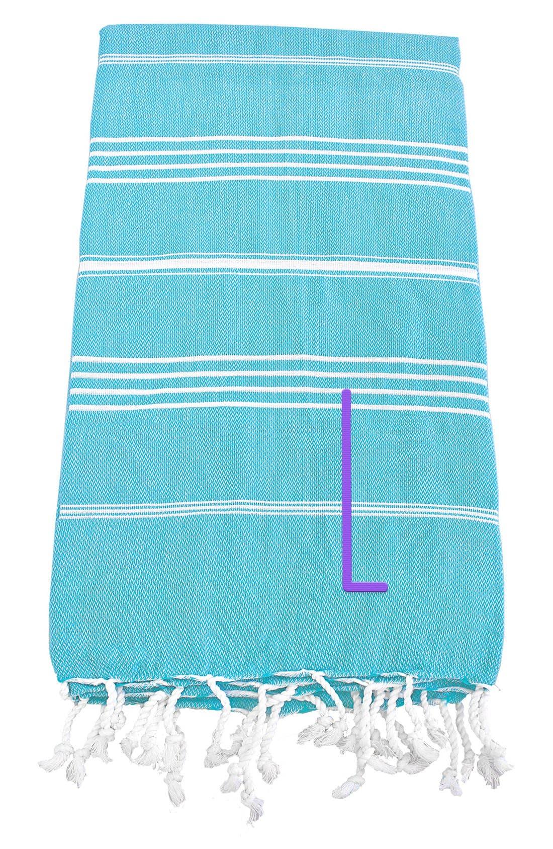 Monogram Turkish Cotton Towel,                             Main thumbnail 95, color,
