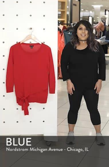 Pima Cotton Blend Tie Sweater, sales video thumbnail
