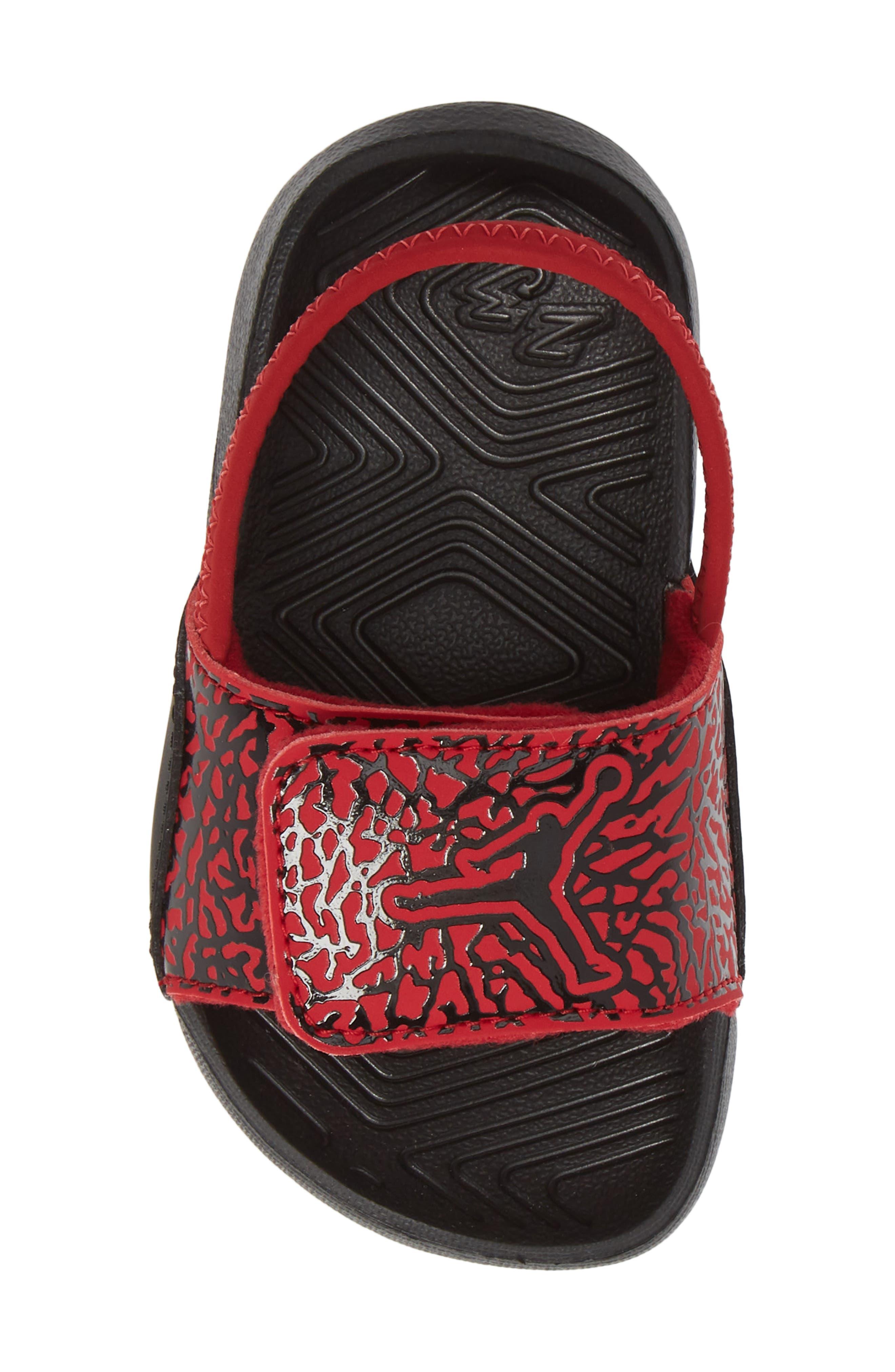 Hydro 7 V2 Sandal,                             Alternate thumbnail 5, color,                             GYM RED/ BLACK 2