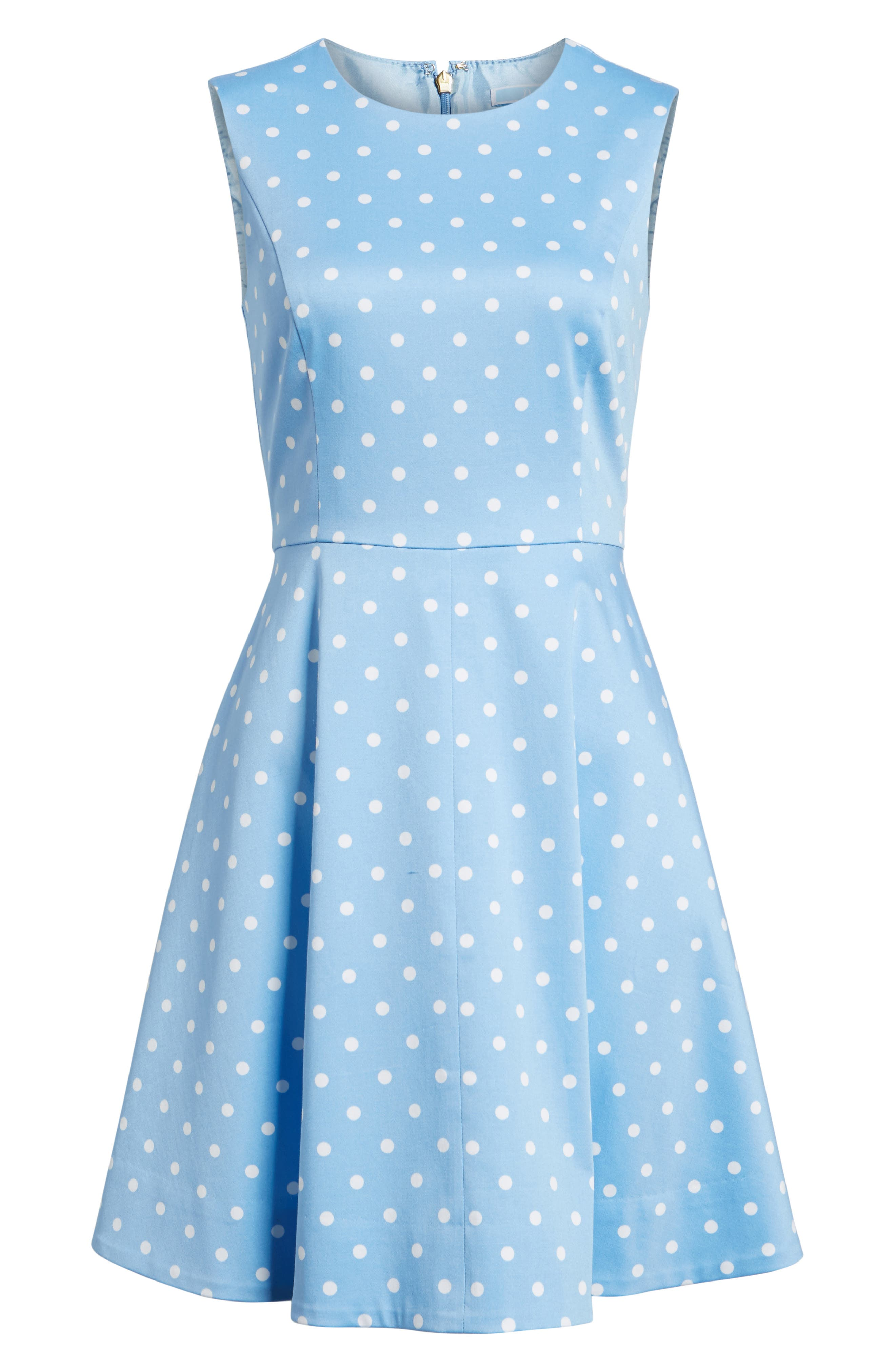 Dot Crew Love Circle Stretch Cotton Dress,                             Alternate thumbnail 6, color,
