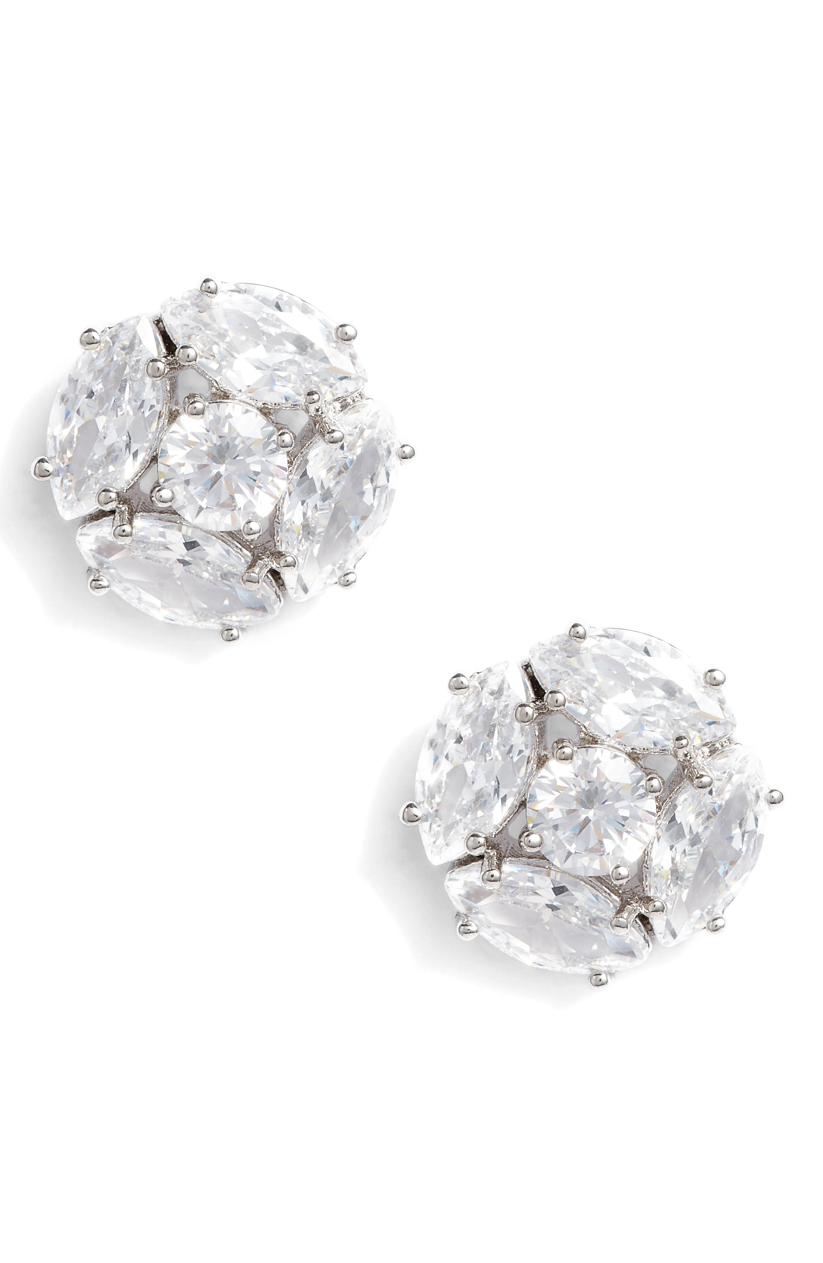 flying colors marquise cluster earrings,                             Main thumbnail 1, color,