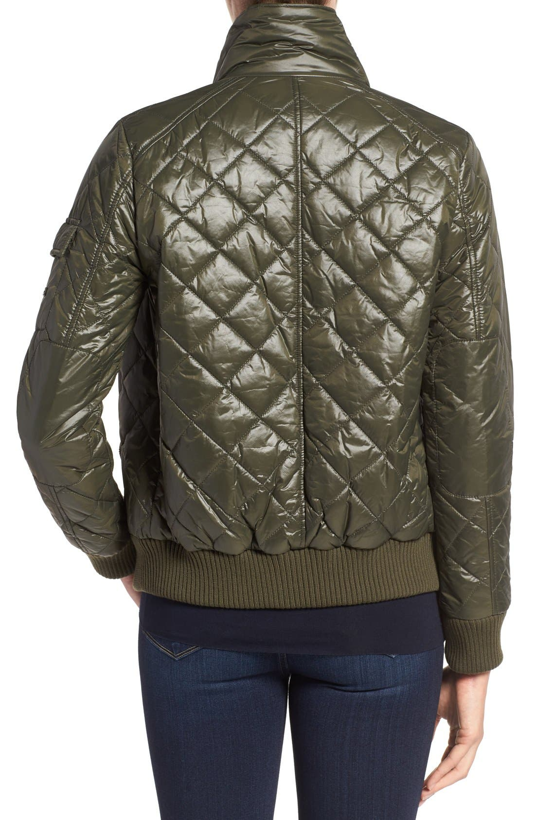 Quilted Bomber Jacket,                             Alternate thumbnail 9, color,