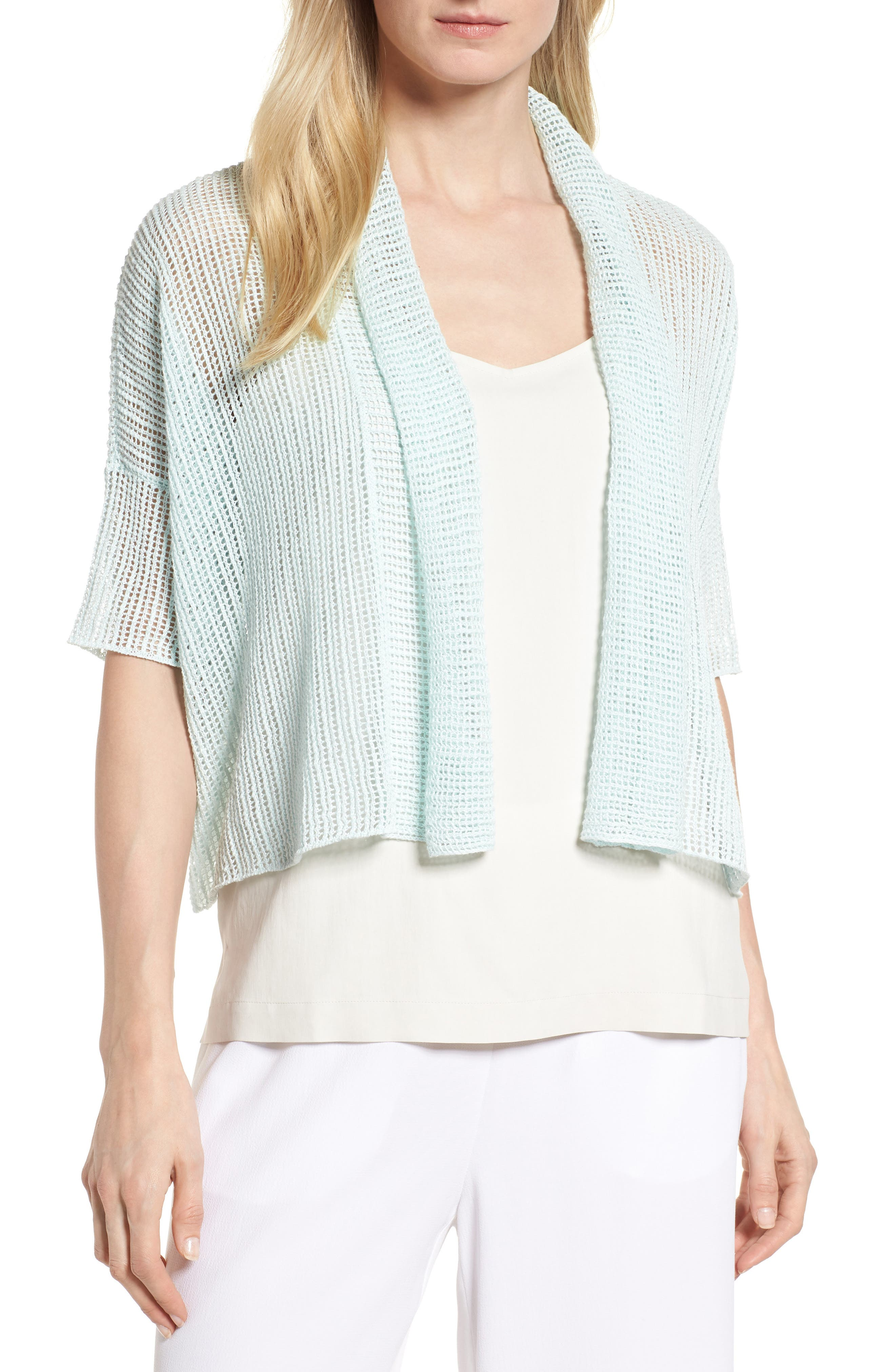 Boxy Organic Linen Cardigan,                             Main thumbnail 3, color,