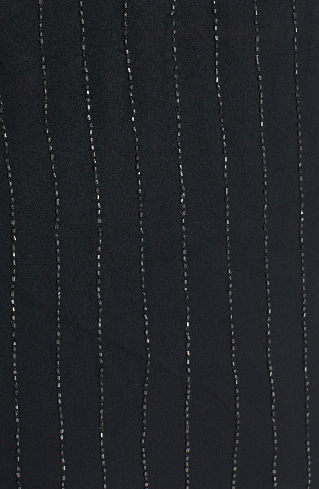 JOIE,                             'Mendira' Beaded Silk Top,                             Alternate thumbnail 3, color,                             002