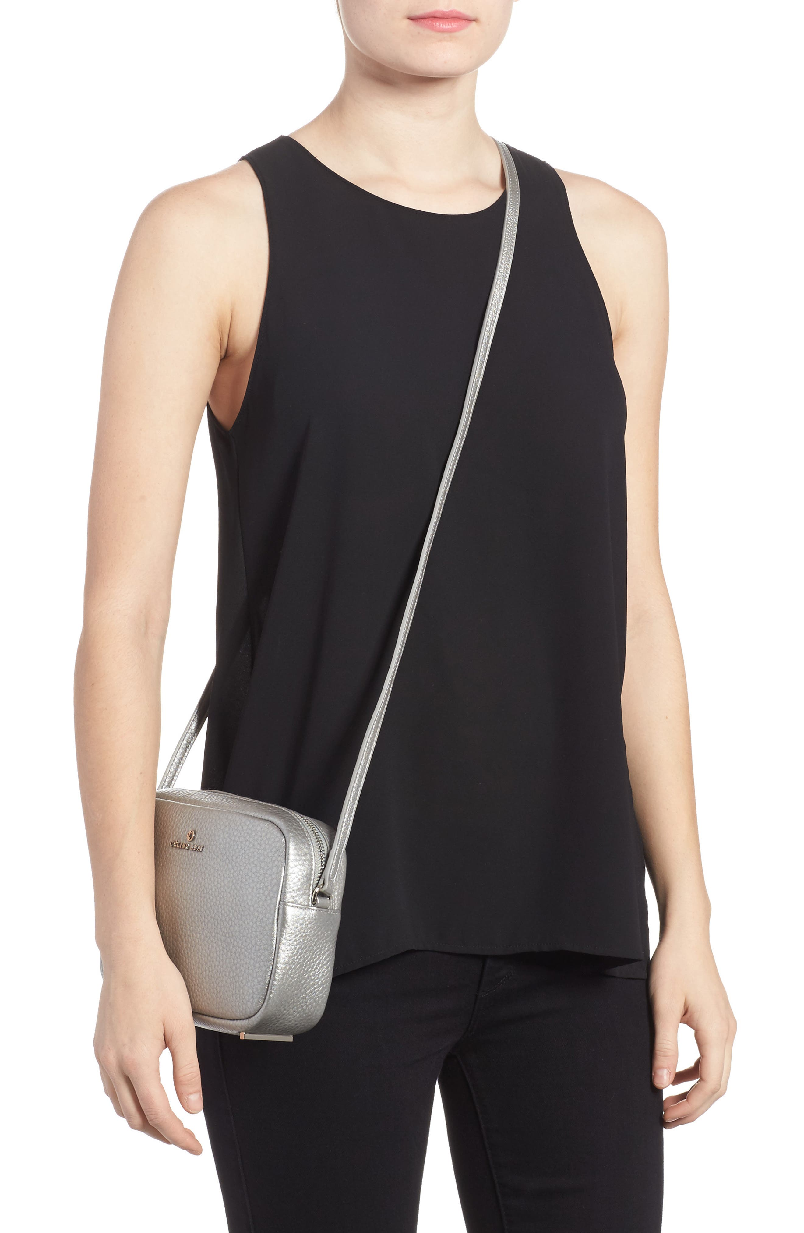 Céline Dion Adagio Leather Camera Crossbody Bag,                             Alternate thumbnail 5, color,