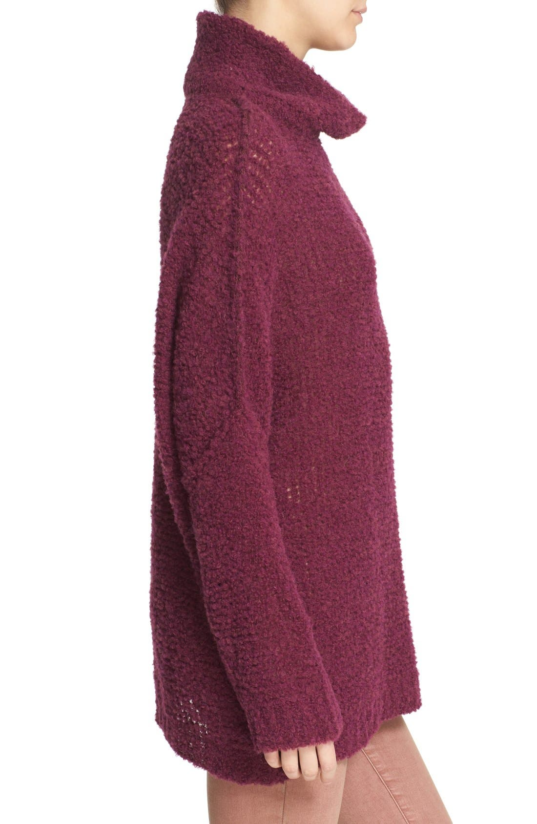 'She's All That' Knit Turtleneck Sweater,                             Alternate thumbnail 9, color,