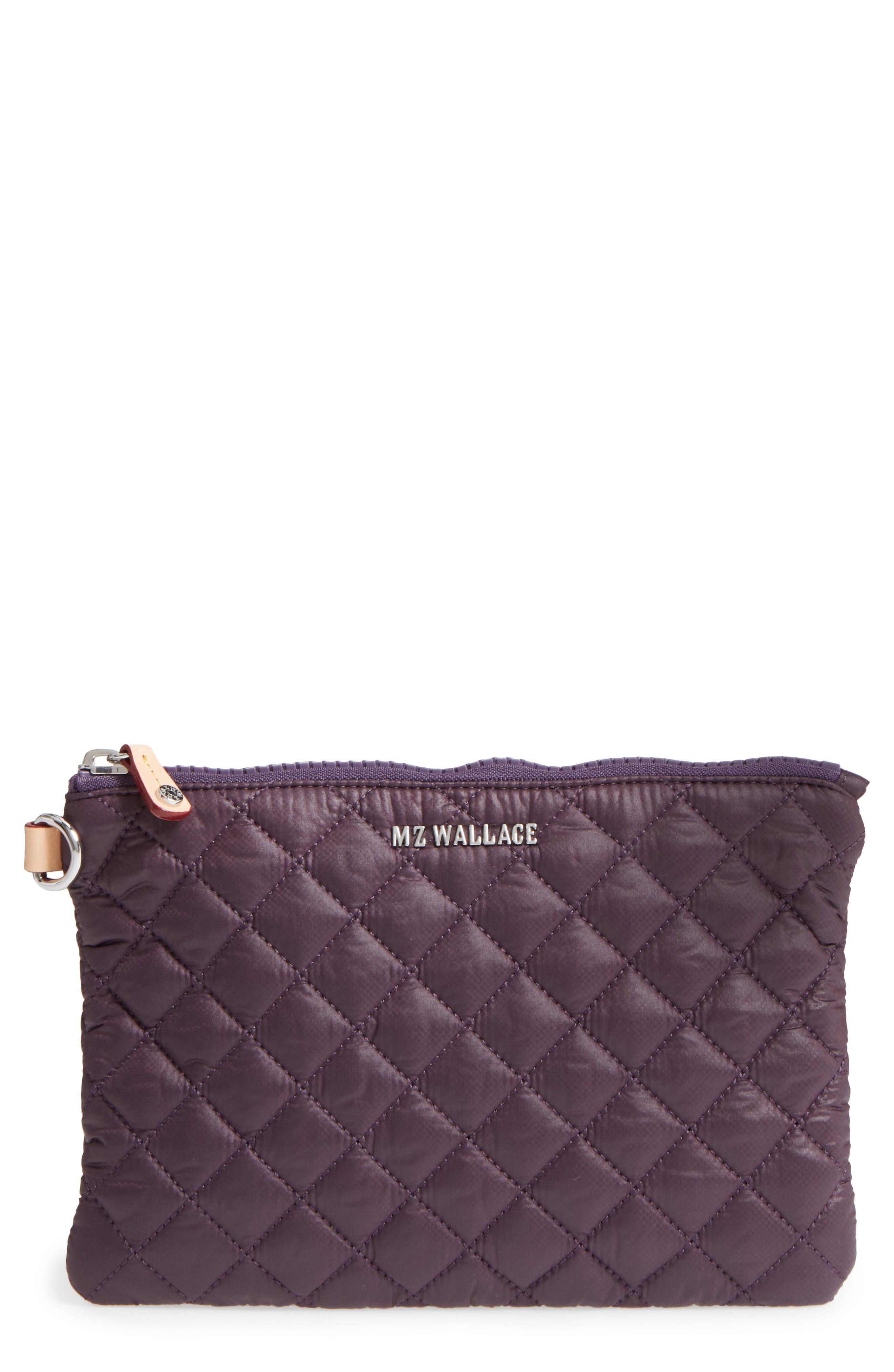 Small Metro Quilted Oxford Nylon Zip Pouch,                             Main thumbnail 4, color,