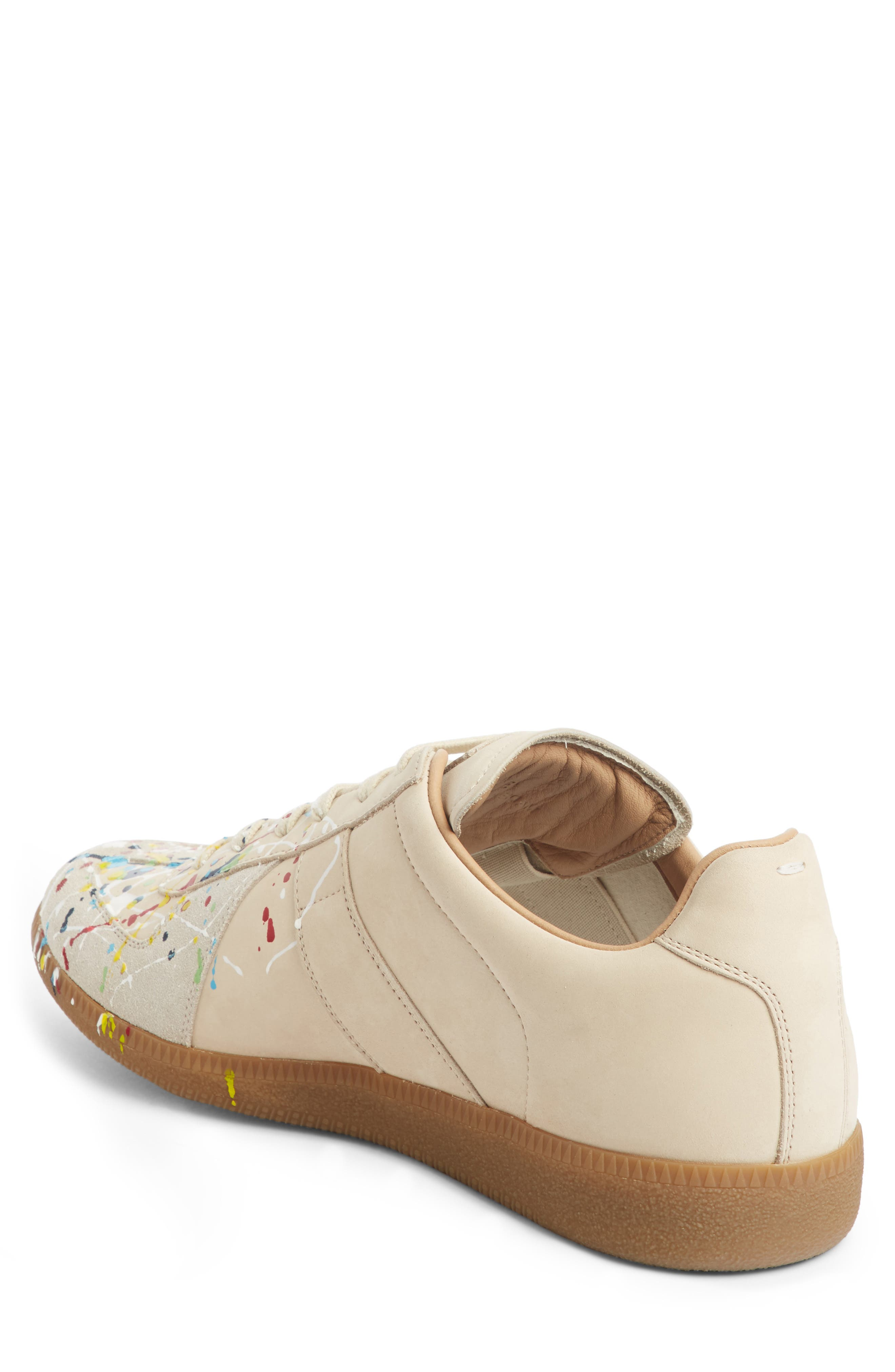 Maison Margiela Replica Low Top Sneaker,                             Alternate thumbnail 2, color,                             BEIGE / PAINT
