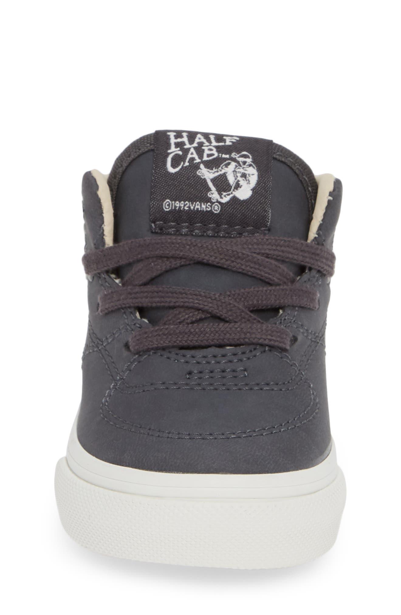 Half Cab Sneaker,                             Alternate thumbnail 4, color,                             VANSBUCK ASPHALT/ BLANC
