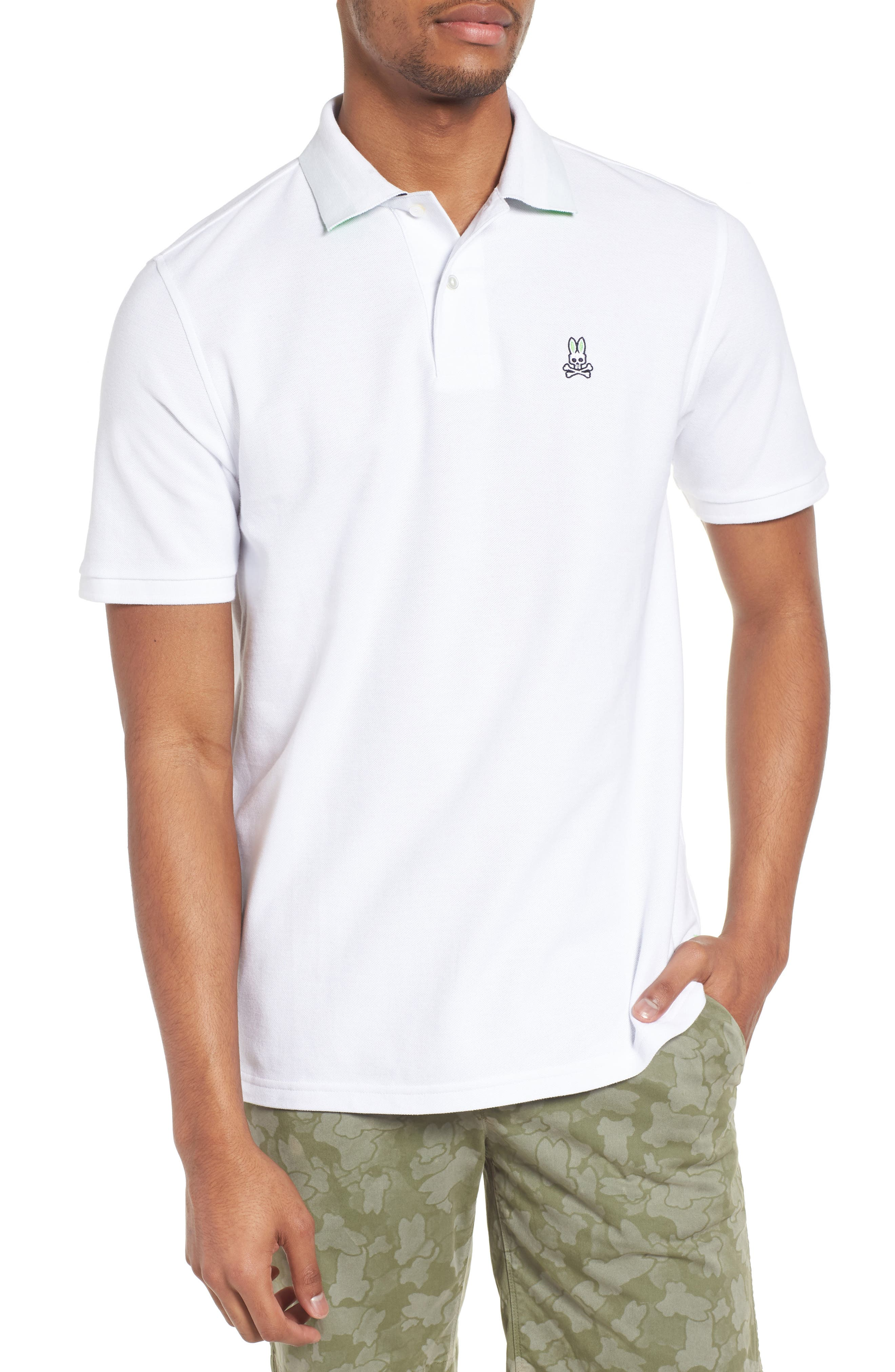 Classic Piqué Polo,                         Main,                         color, WHITE