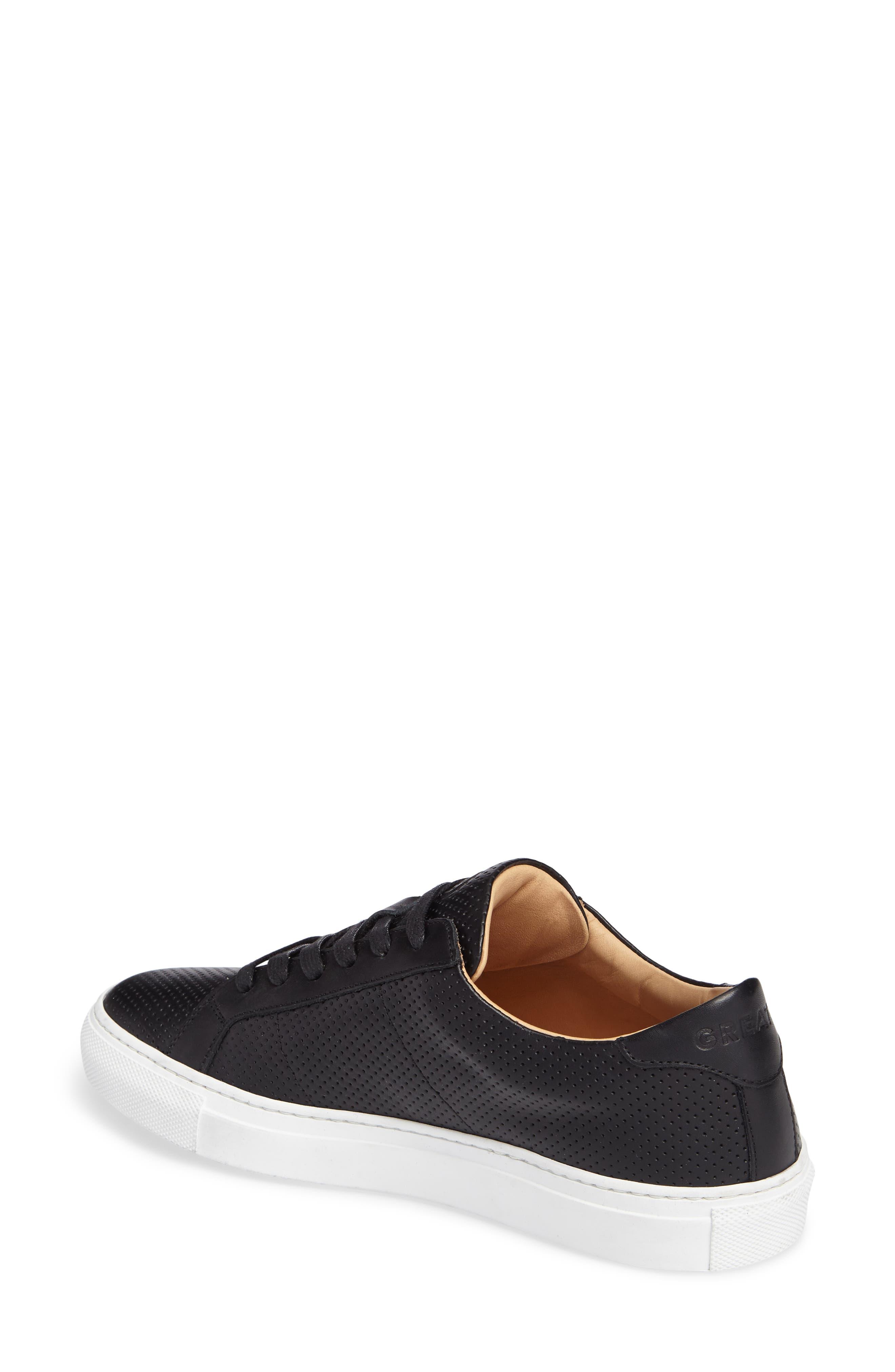Royale Low Top Sneaker,                             Alternate thumbnail 2, color,                             BLACK PERFORATED