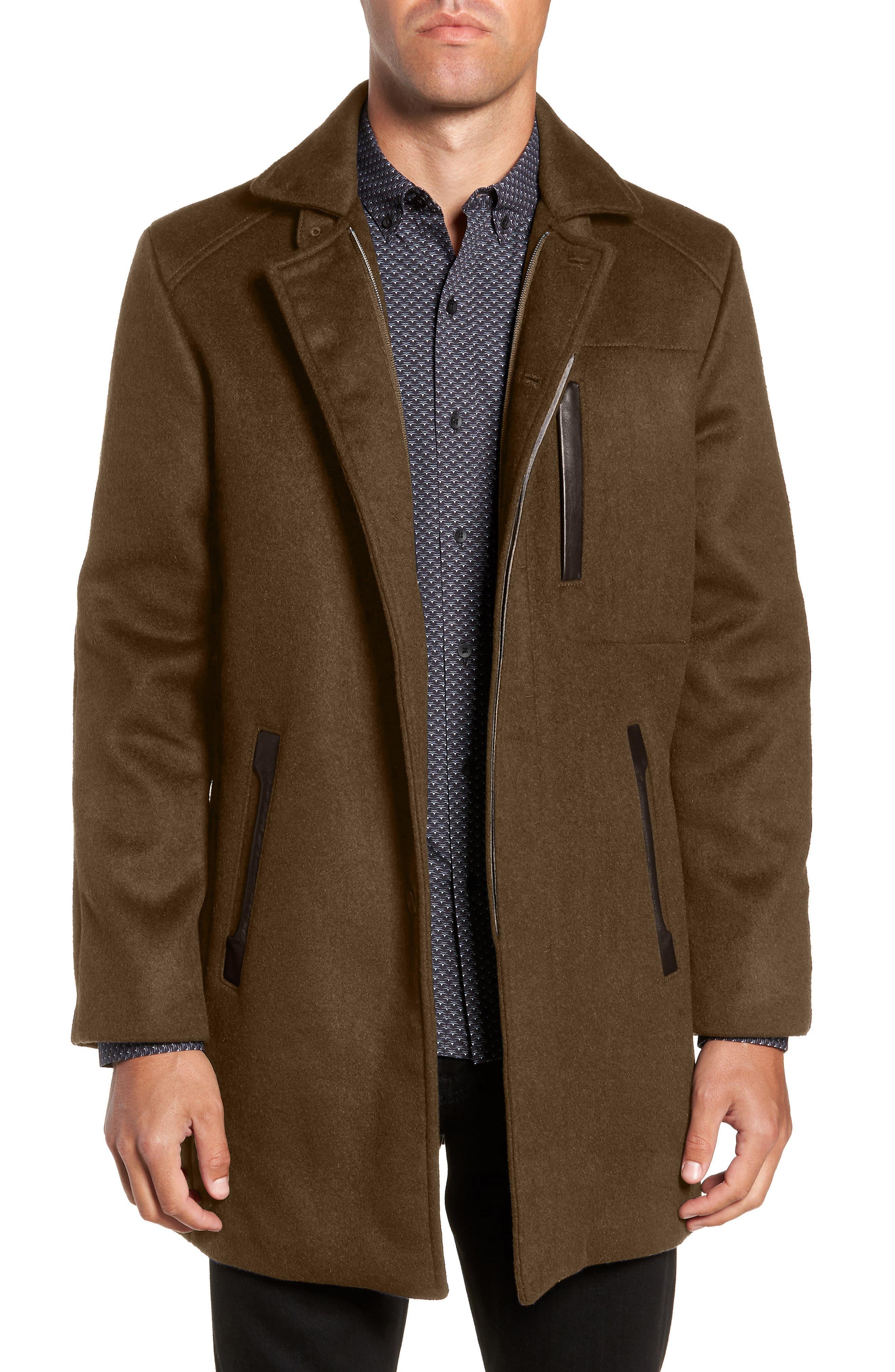 W.R.K Kilo Slim Fit Wool Blend Coat, Main, color, OLIVE